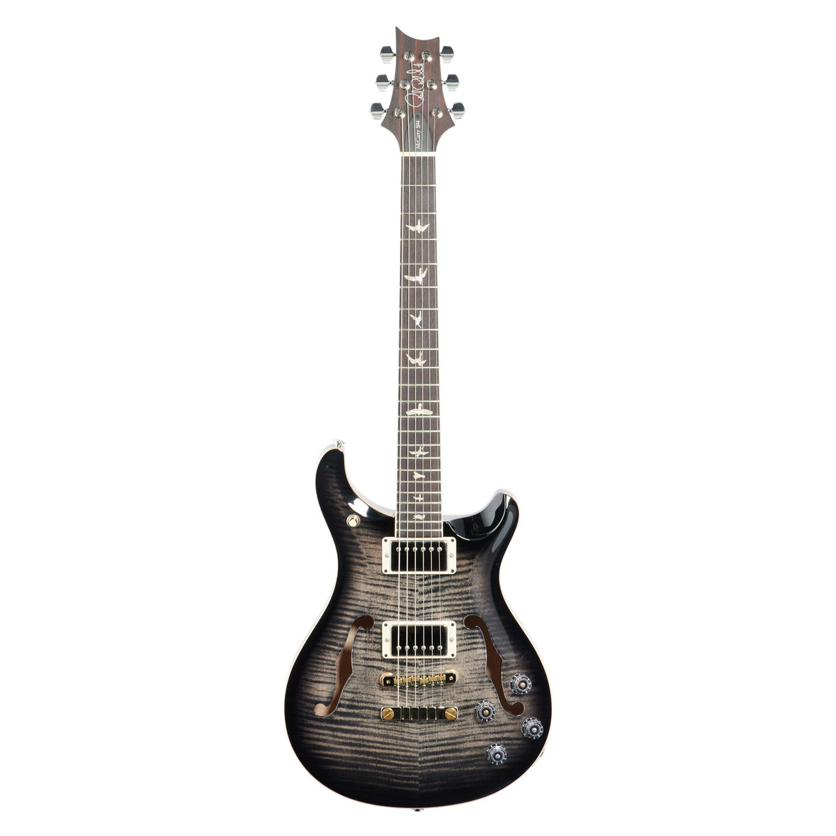 PRS Paul Reed Smith McCarty 594 Hollowbody II 10 Top Electric Guitar (with Case), Charcoal Burst
