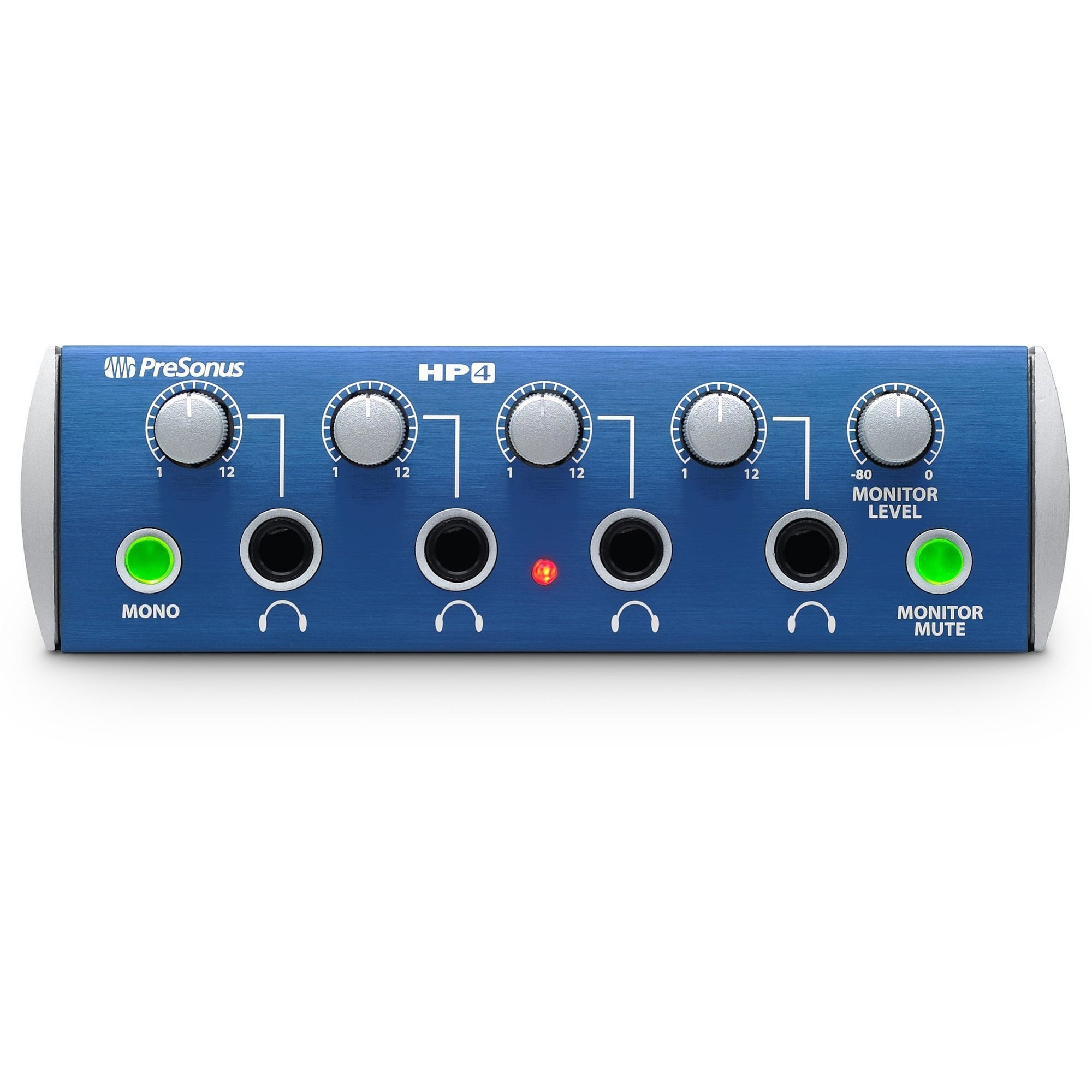PreSonus HP4 4-Channel Headphone Amplifier, Pack with 4 Pairs of HD9 Headphones