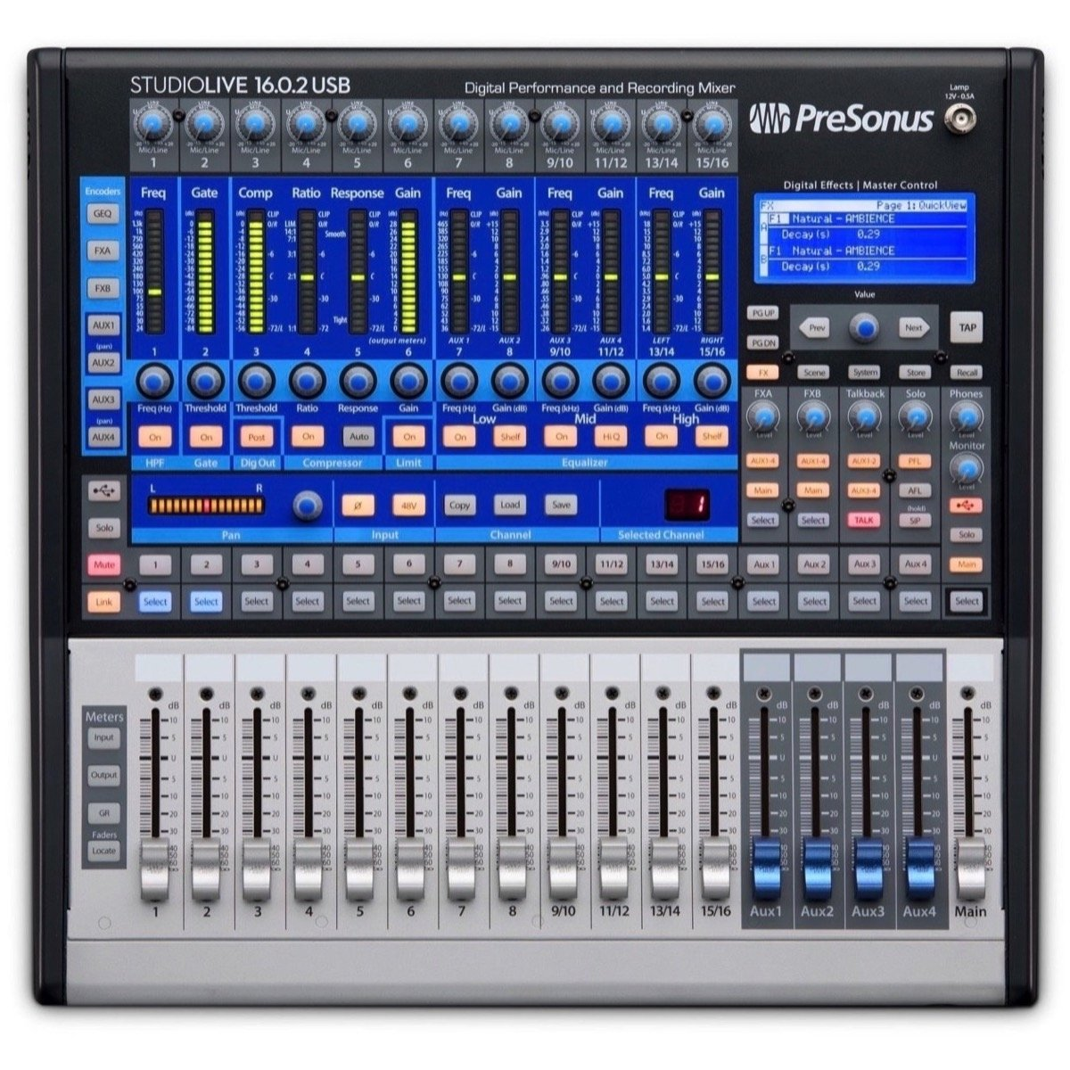 PreSonus StudioLive 16.0.2 USB Digital Mixer, 16-Channel