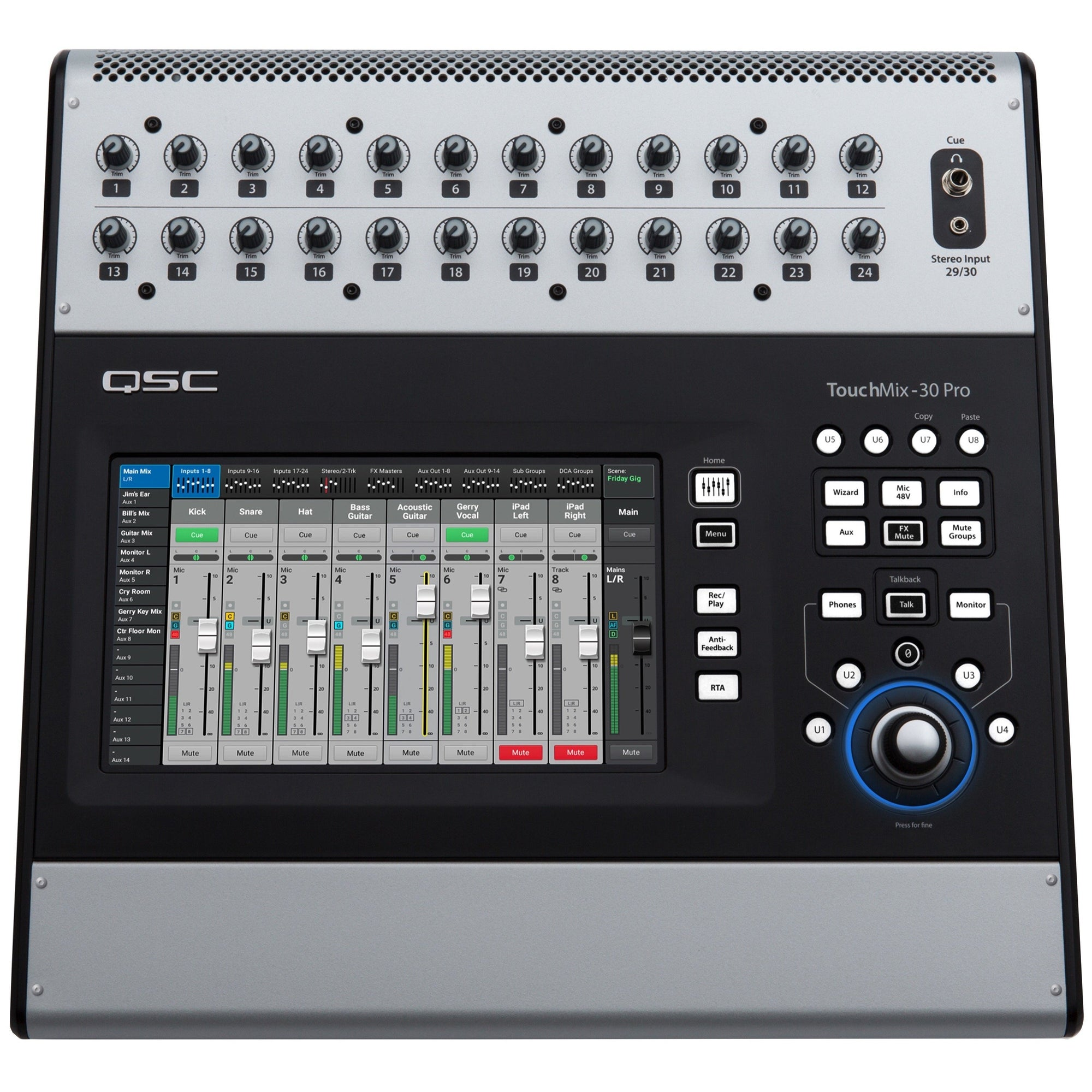 QSC TouchMix-30 Pro Digital Mixer, 32-Channel