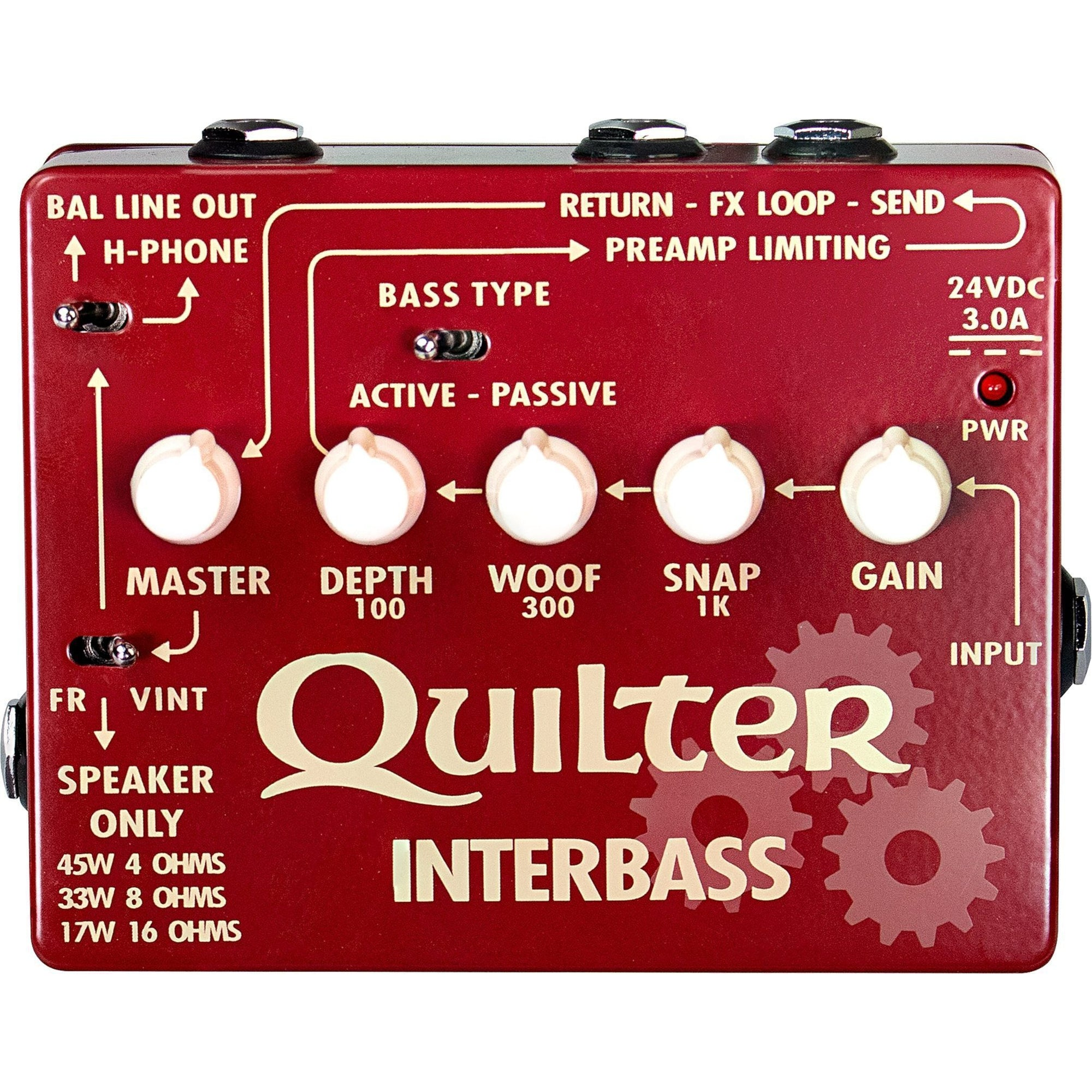 Quilter INTERBASS Power Amp and Direct Box (45 Watts)