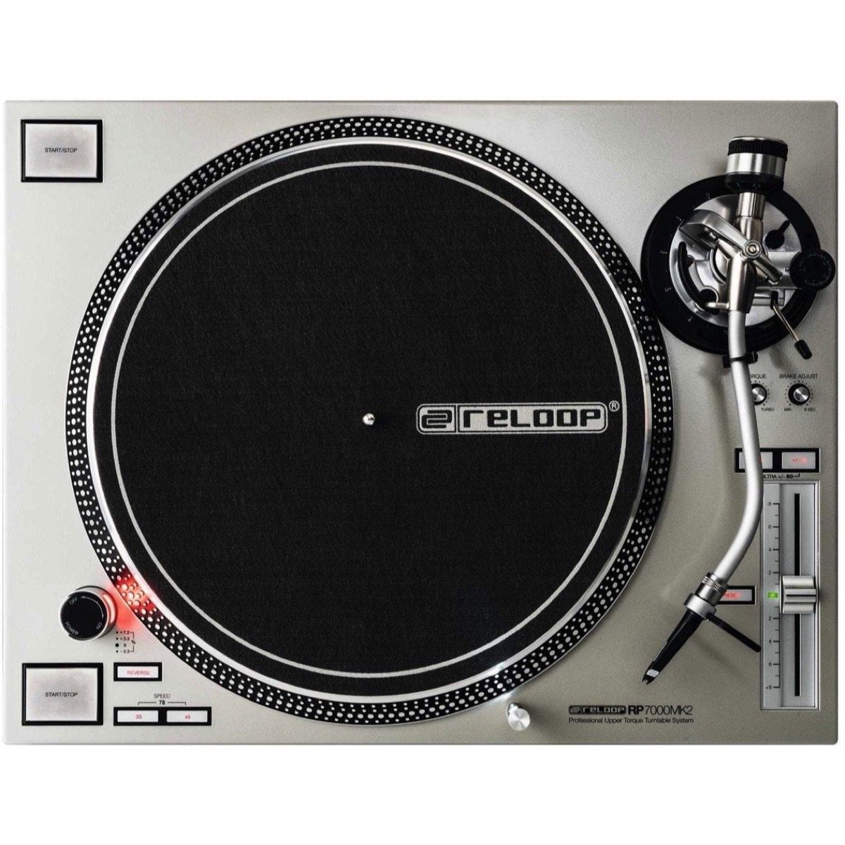Reloop RP-7000 MK2 Direct-Drive Turntable, Silver