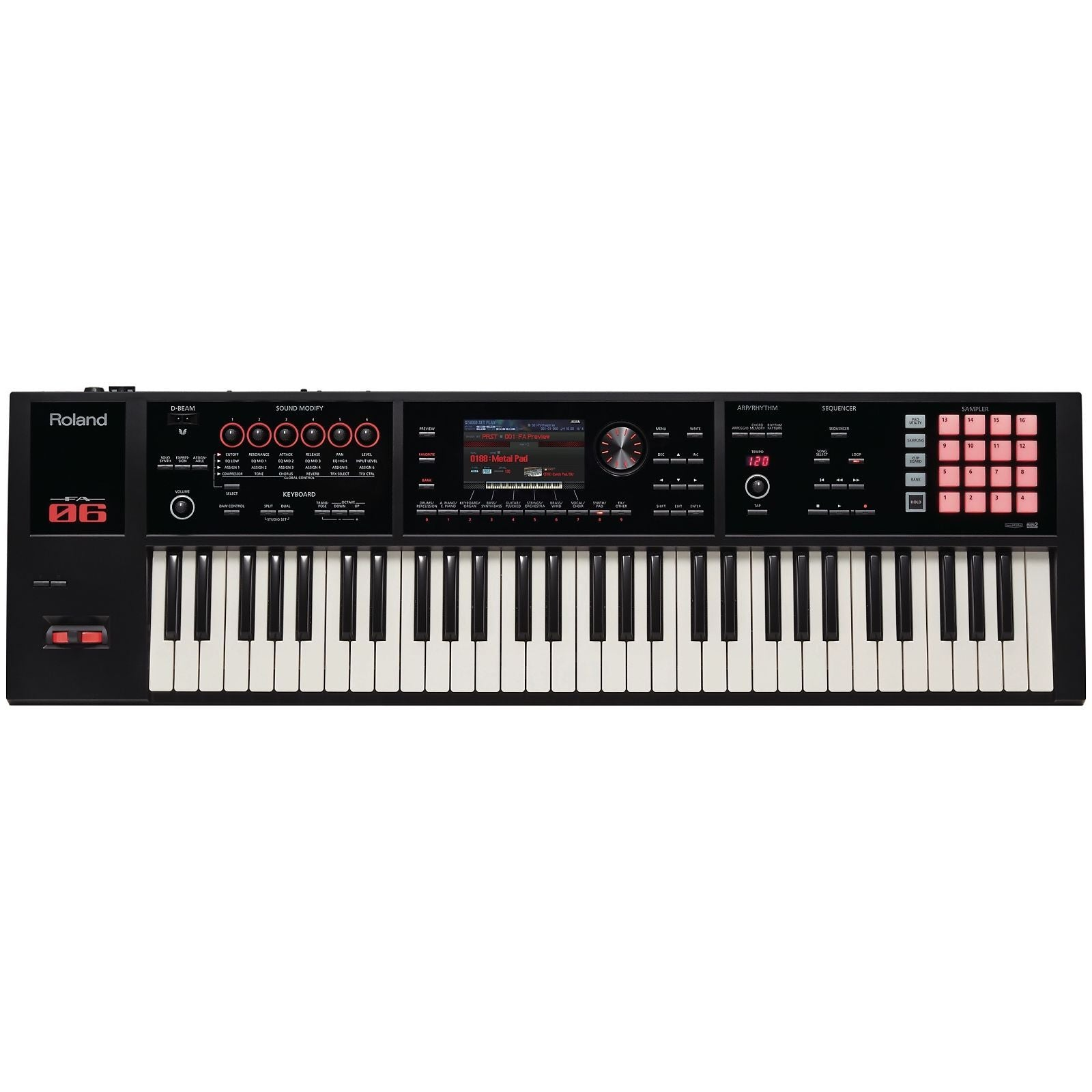 Roland FA-06 Music Workstation Keyboard, 61-Key