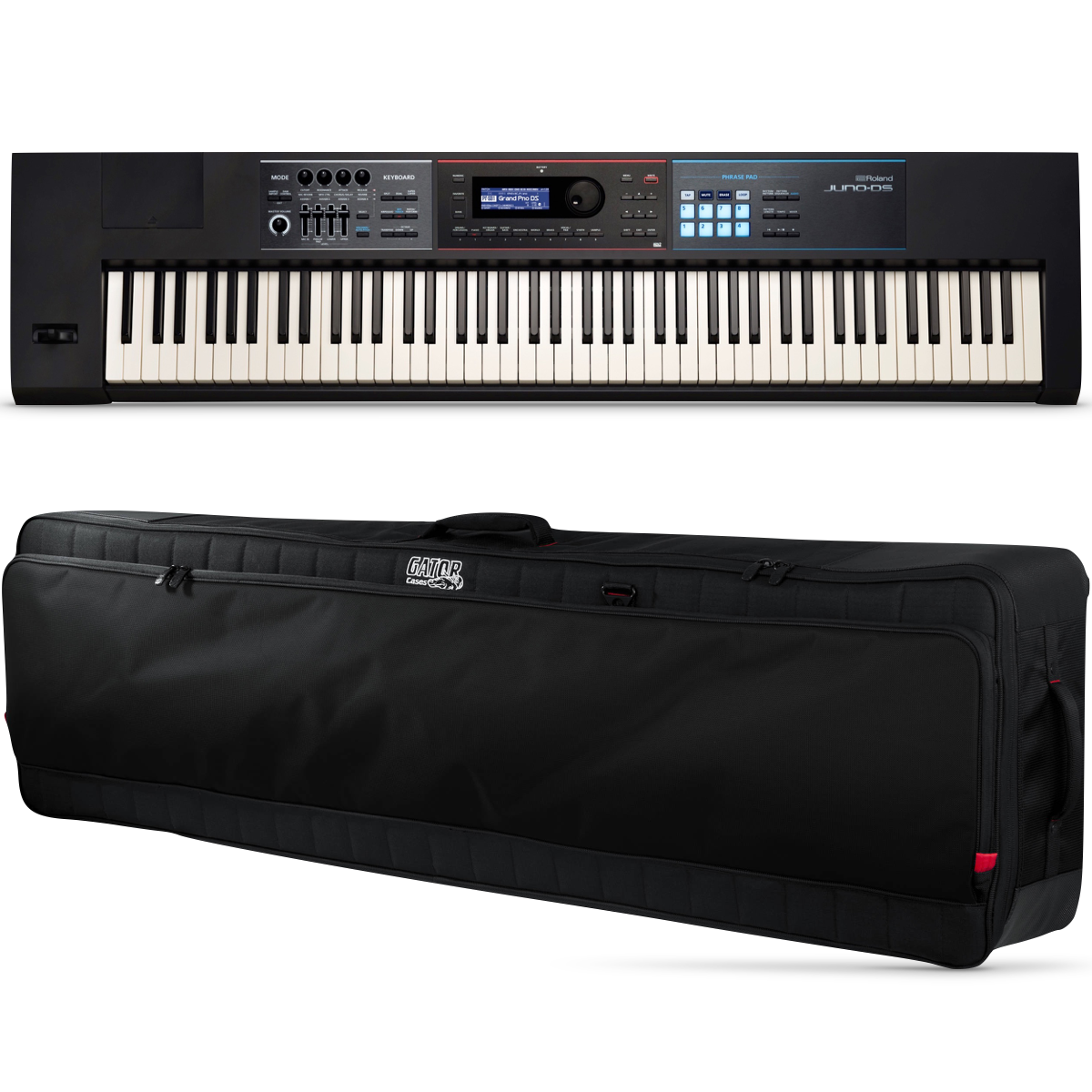 Roland JUNO DS-88 Synthesizer Keyboard, 88-Key, with Gator Bag