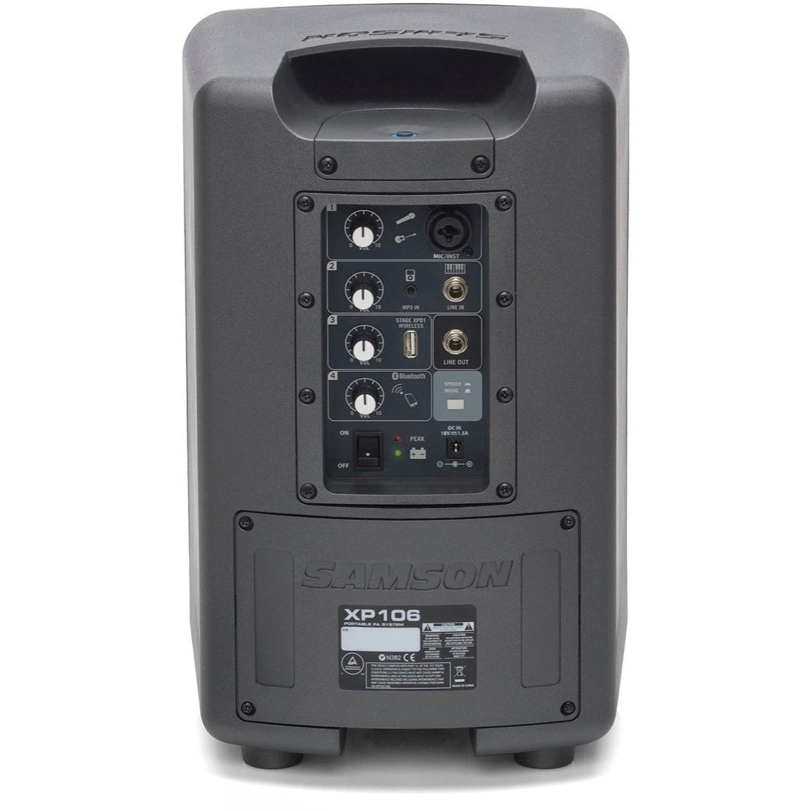Samson Expedition XP106 Rechargeable Battery-Powered Portable Bluetooth PA System with Wired Microphone