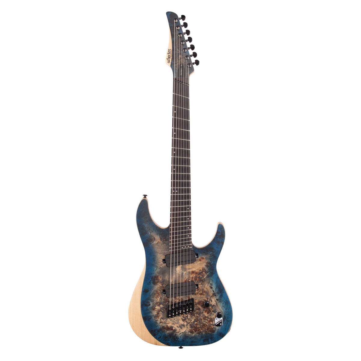 Schecter Reaper 7MS Electric Guitar, 7-String, Sky Burst