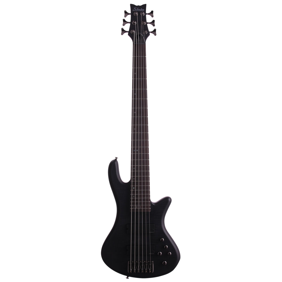 Schecter Stiletto Studio-6 6-String Electric Bass, See Thru Black Satin