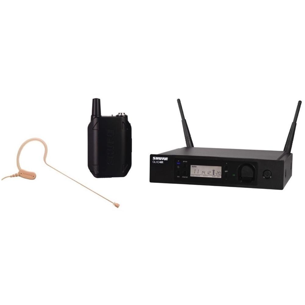 Shure GLXD14RMX53 Wireless Headworn Microphone System, Z2, 2400-2483.5 MHz
