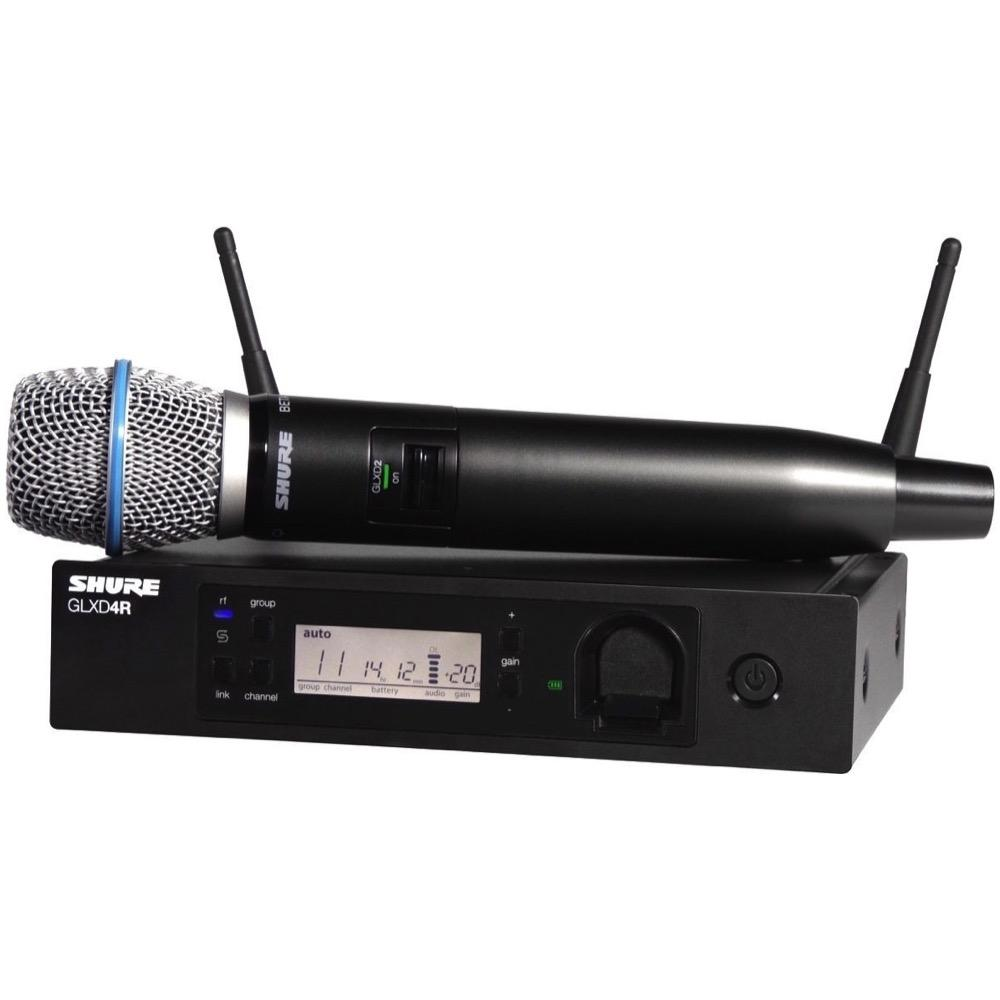 Shure GLXD24RB87A Wireless Handheld Microphone System, Z2 Band (2400-2483.5 MHz)