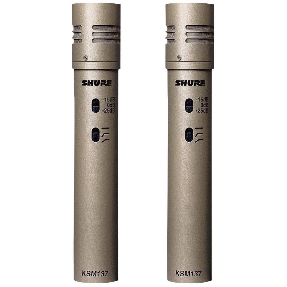 Shure KSM137 Small-Diaphragm Condenser Microphones, Stereo Matched Pair, KSM137SL ST, Matched Pair