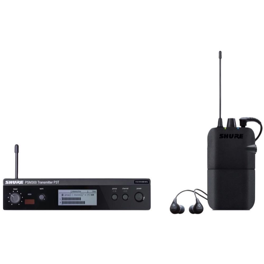 Shure PSM300 IEM Wireless In-Ear Monitor System with SE112 Earphones, Band H20 (518.200 - 541.800 MHz)