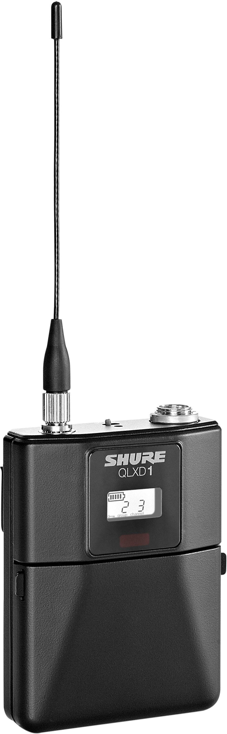 Shure QLXD1484 Wireless System with WL184 Lavalier Microphone, Band G50 (470 - 534 MHz)