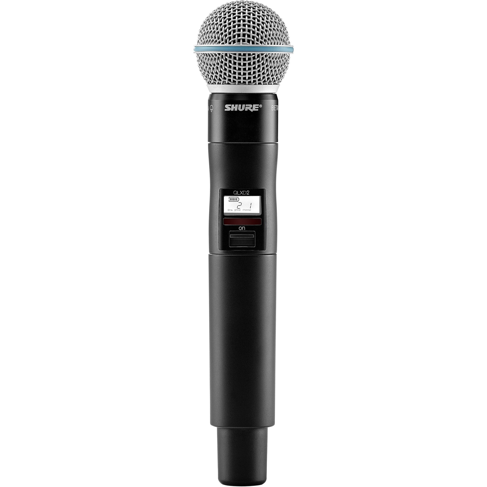 Shure QLXD24B58 Wireless System with Beta 58A Handheld Microphone Transmitter, Band G50 (470 - 534 MHz)