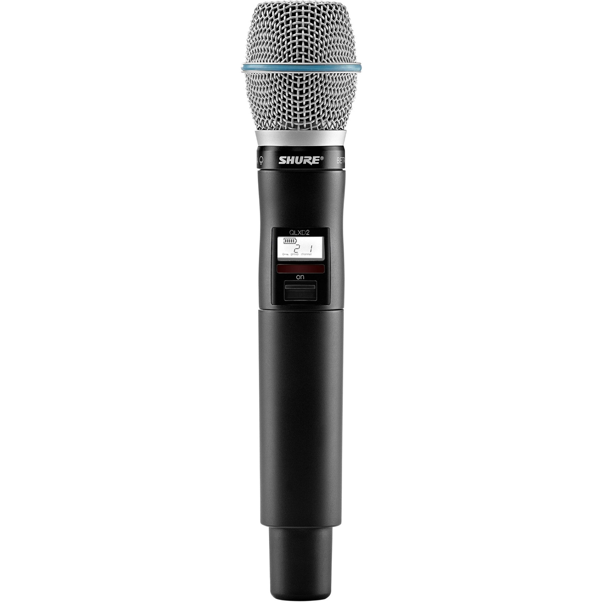 Shure QLXD24B87A Wireless System with Beta 87a Handheld Microphone Transmitter, Band J50A (572 - 608 MHz)