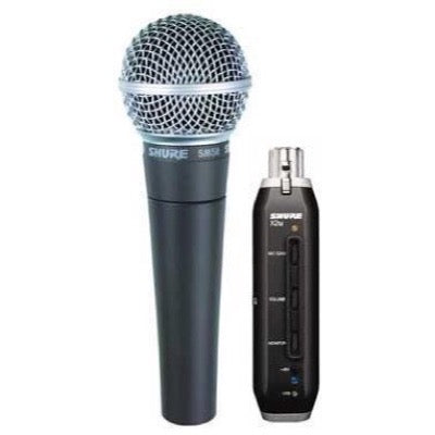 Shure SM58 Dynamic Handheld Microphone, SM58-X2U, with X2U USB Adapter