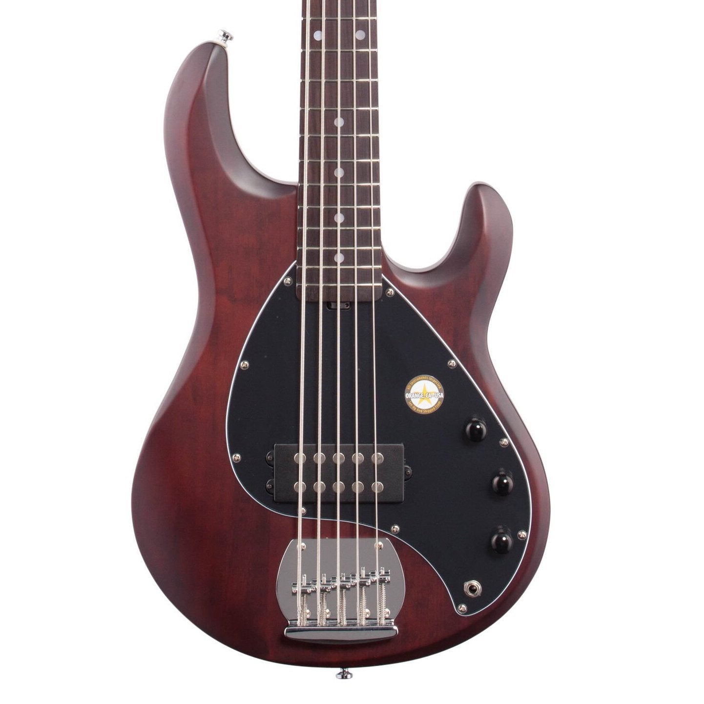 Sterling by Music Man StingRay 5 Electric Bass, 5-String, Walnut Satin copy
