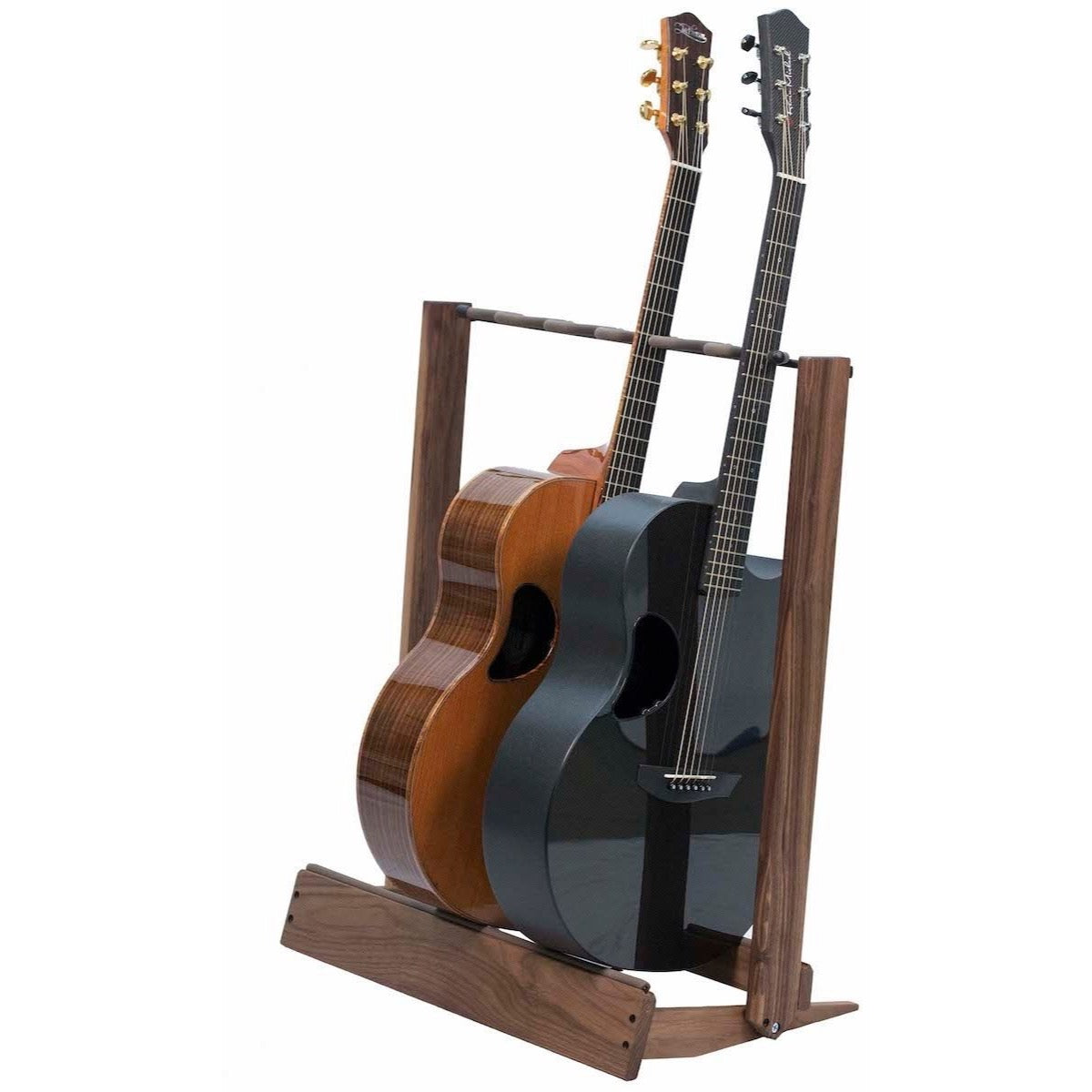 String Swing CC34 Side-Loading Inline Guitar Rack, Black Walnut