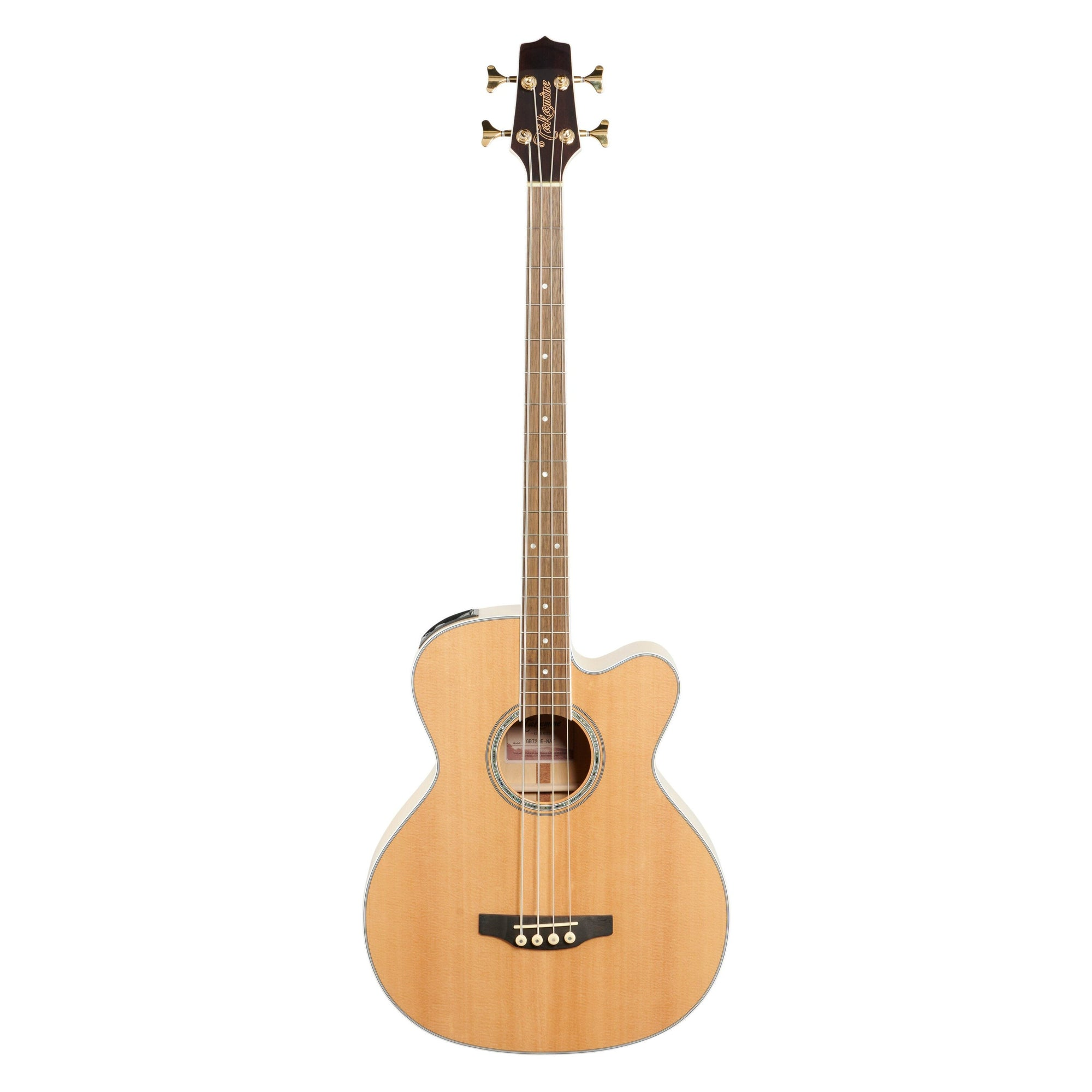 Takamine GB72CE Jumbo Acoustic-Electric Bass, Natural
