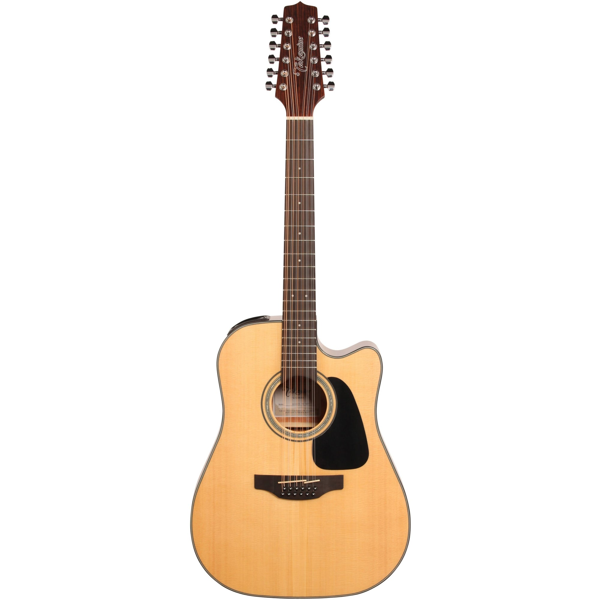Takamine GD30CE Cutaway Acoustic-Electric Guitar, 12-String, Natural