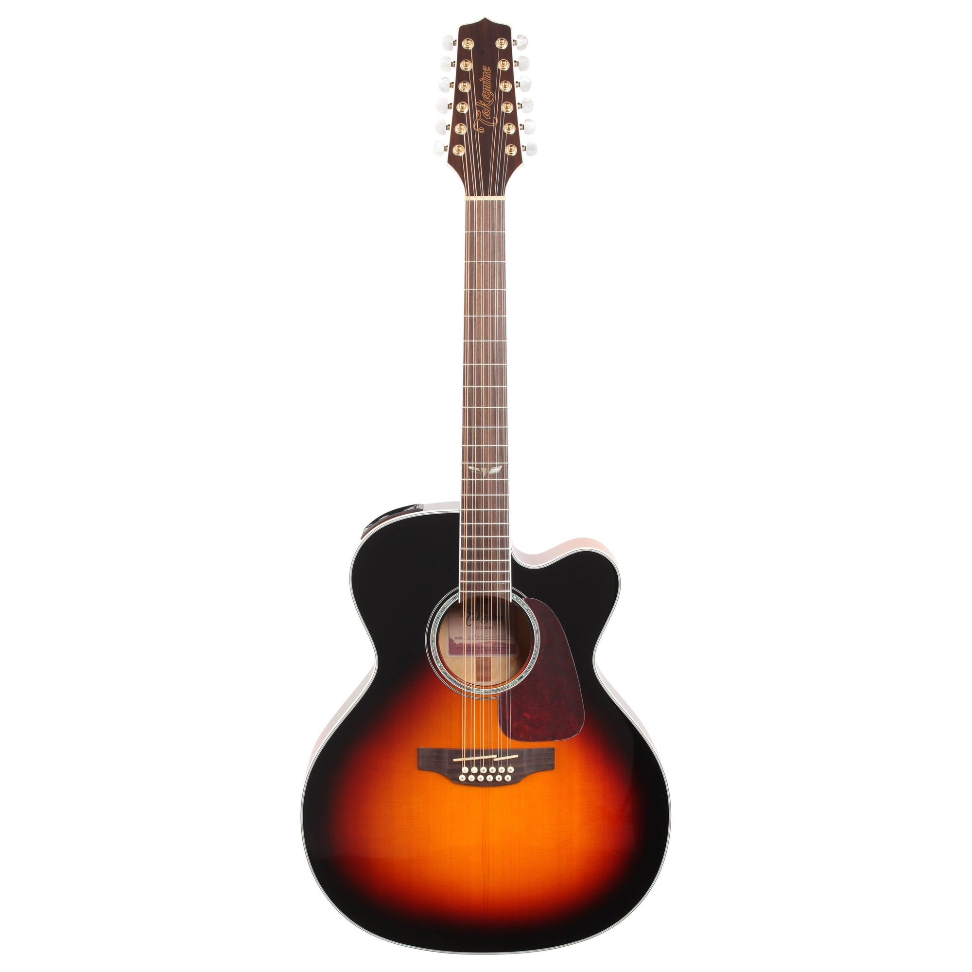 Takamine GJ72CE Jumbo Cutaway Acoustic-Electric Guitar, 12-String, Brown Sunburst