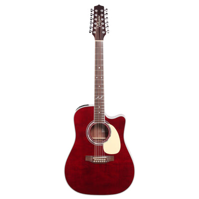 Takamine John Jorgenson Acoustic-Electric Guitar, 12-String (with Case), Red