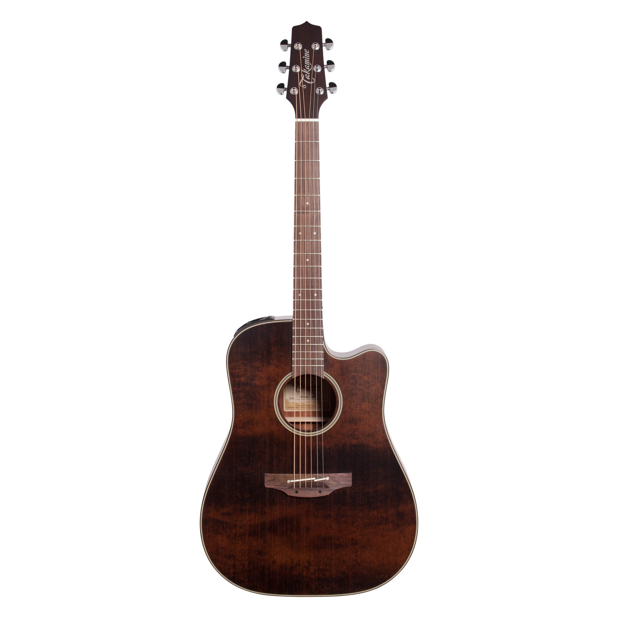 Takamine P1DC Dreadnought Acoustic-Electric Guitar (with Case), Satin Molasses