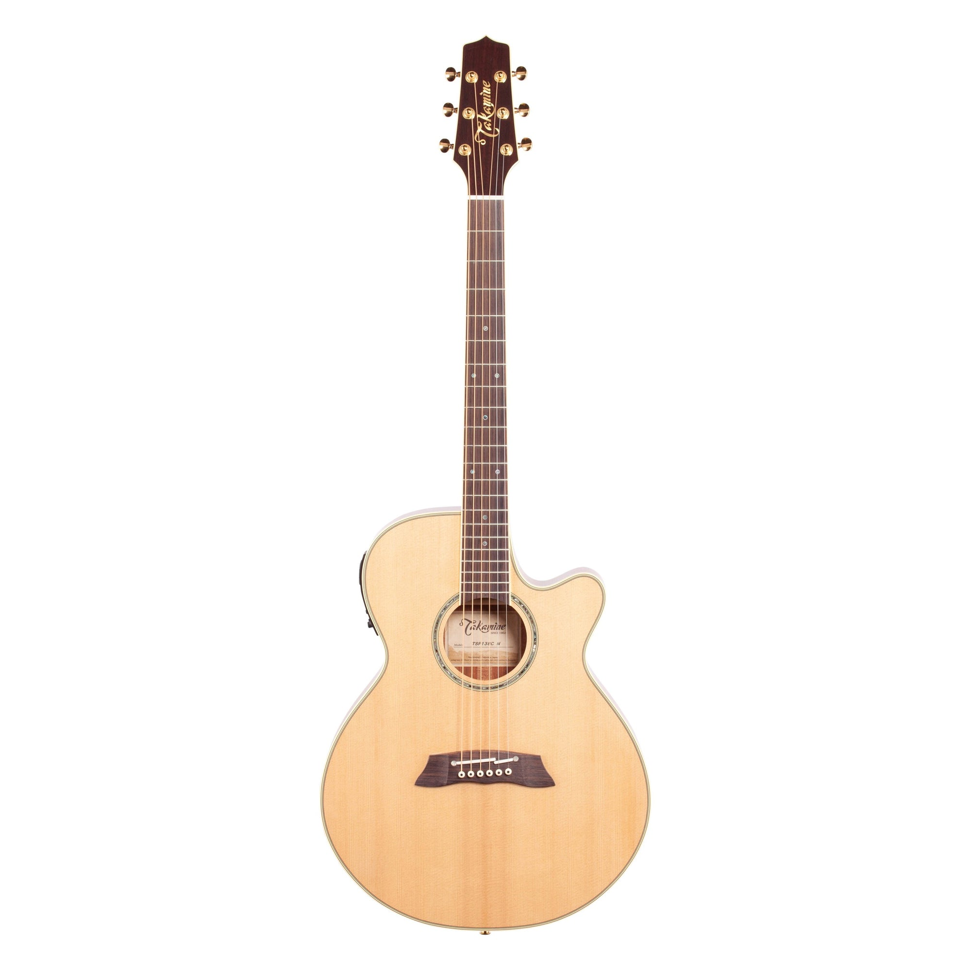 Takamine TSP138C Thinline Acoustic-Electric Guitar (with Gig Bag), Natural