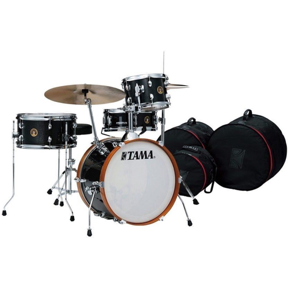 Tama Club Jam Drum Shell Kit, 4-Piece, Charcoal Mist, with Drum Bags