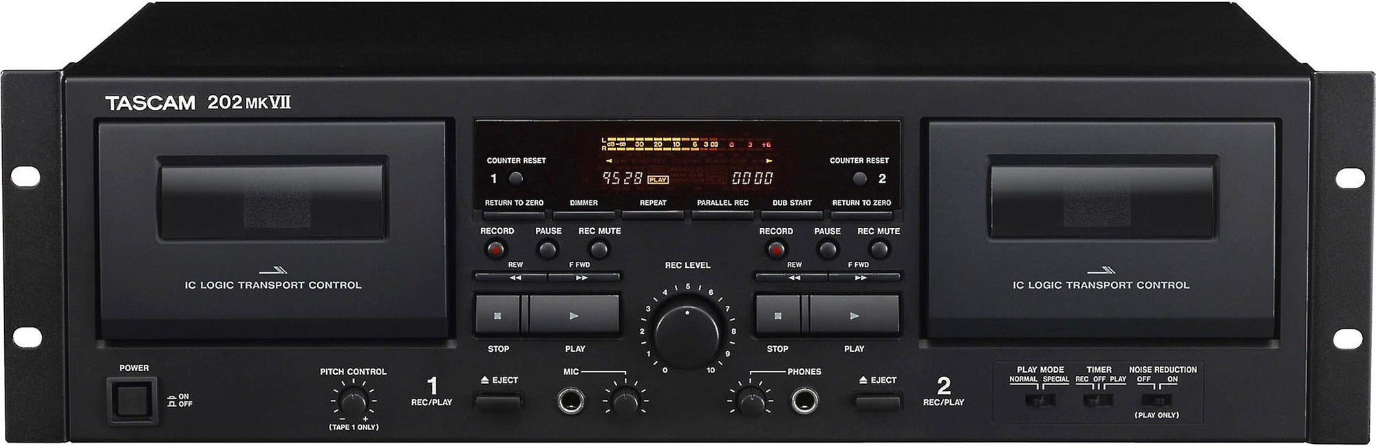 Tascam 202 MK VII Double Cassette Deck (with USB)