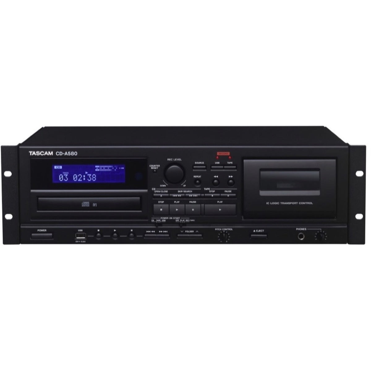 Tascam CD-A580 CassetteCDUSB MP3 Player Recorder