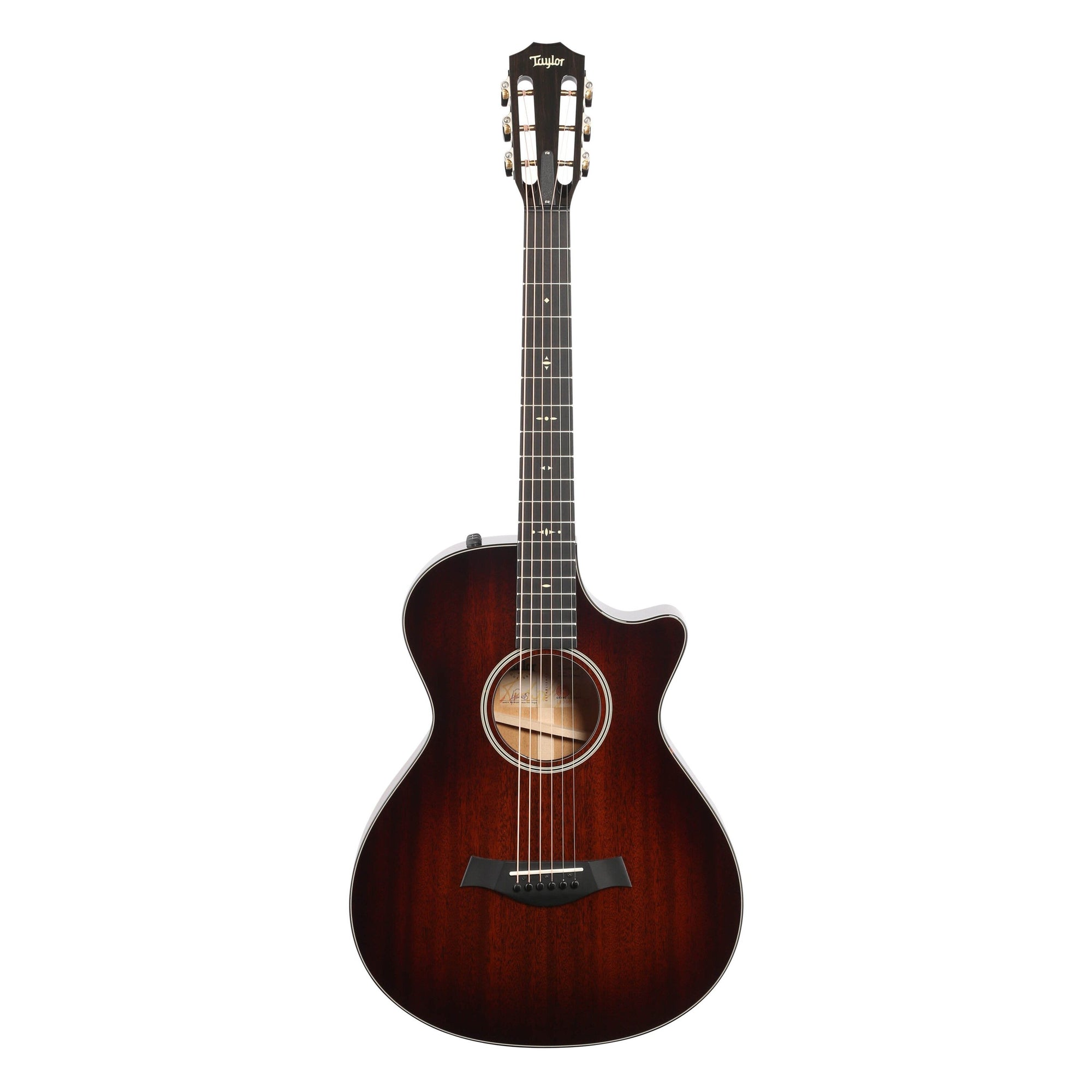 Taylor 522ceV 12-Fret Grand Cutaway Acoustic-Electric Guitar, Shaded Edge Burst