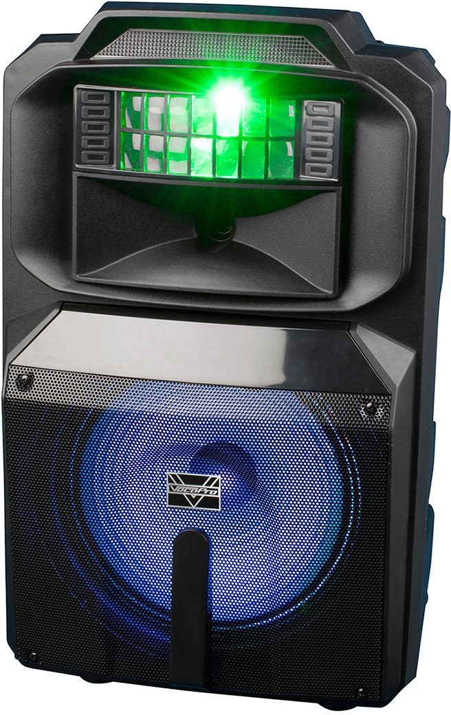 VocoPro Karaoke Thunder 1200 Powered Party PA Speaker (with Lights)