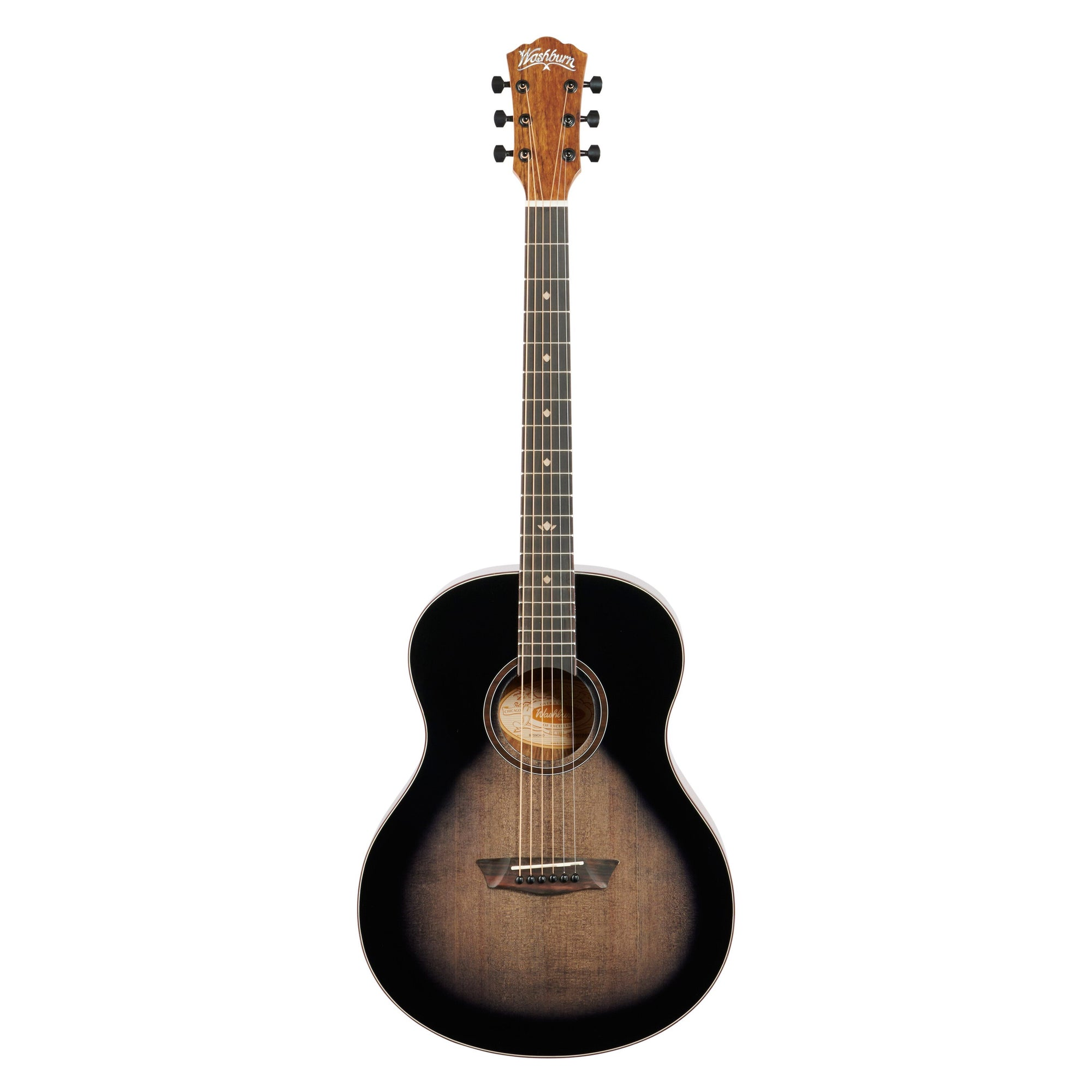 Washburn Bella Tono Novo S9 Acoustic Guitar, Charcoal Burst