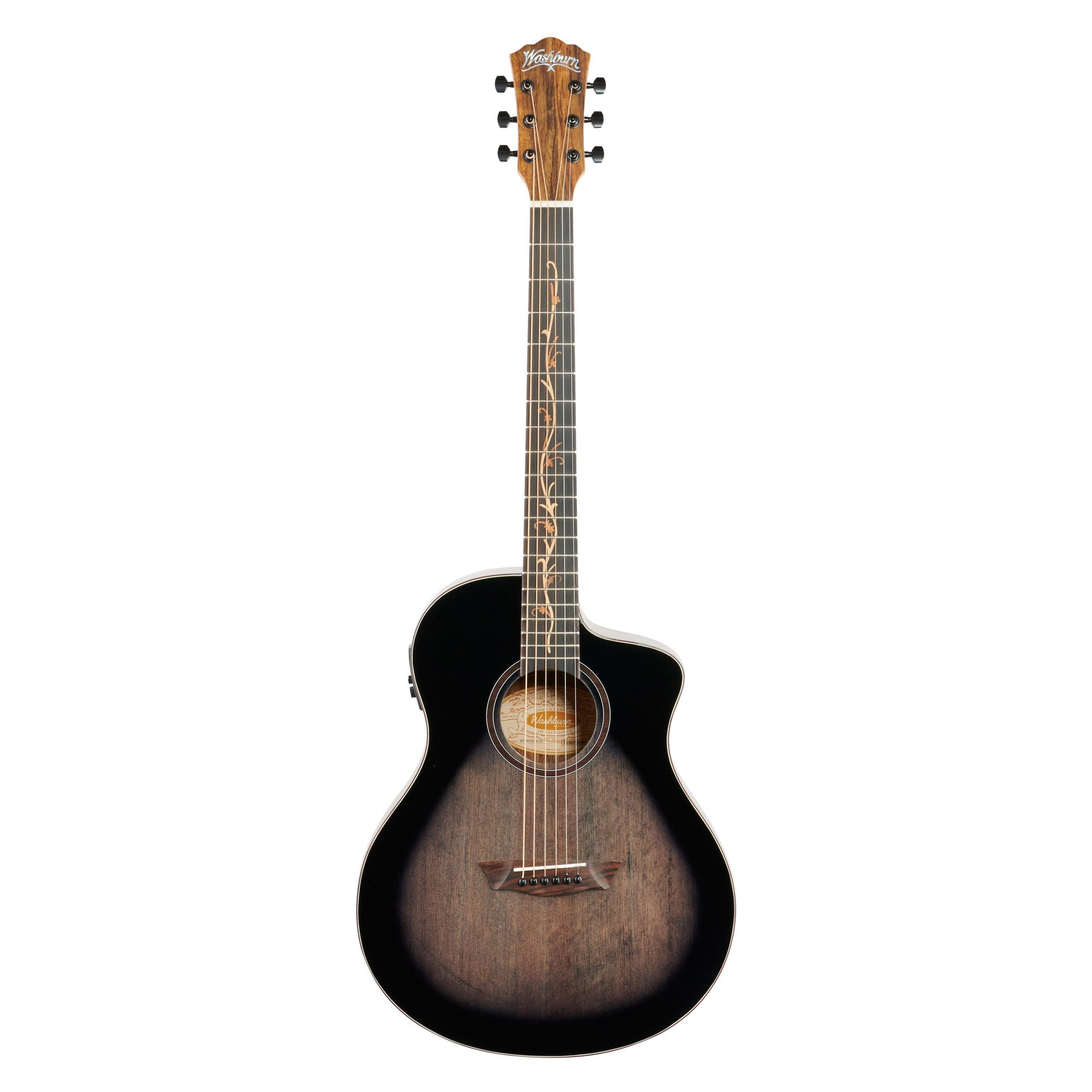 Washburn Bella Tono Vite S9V Acoustic-Electric Guitar, Charcoal Burst