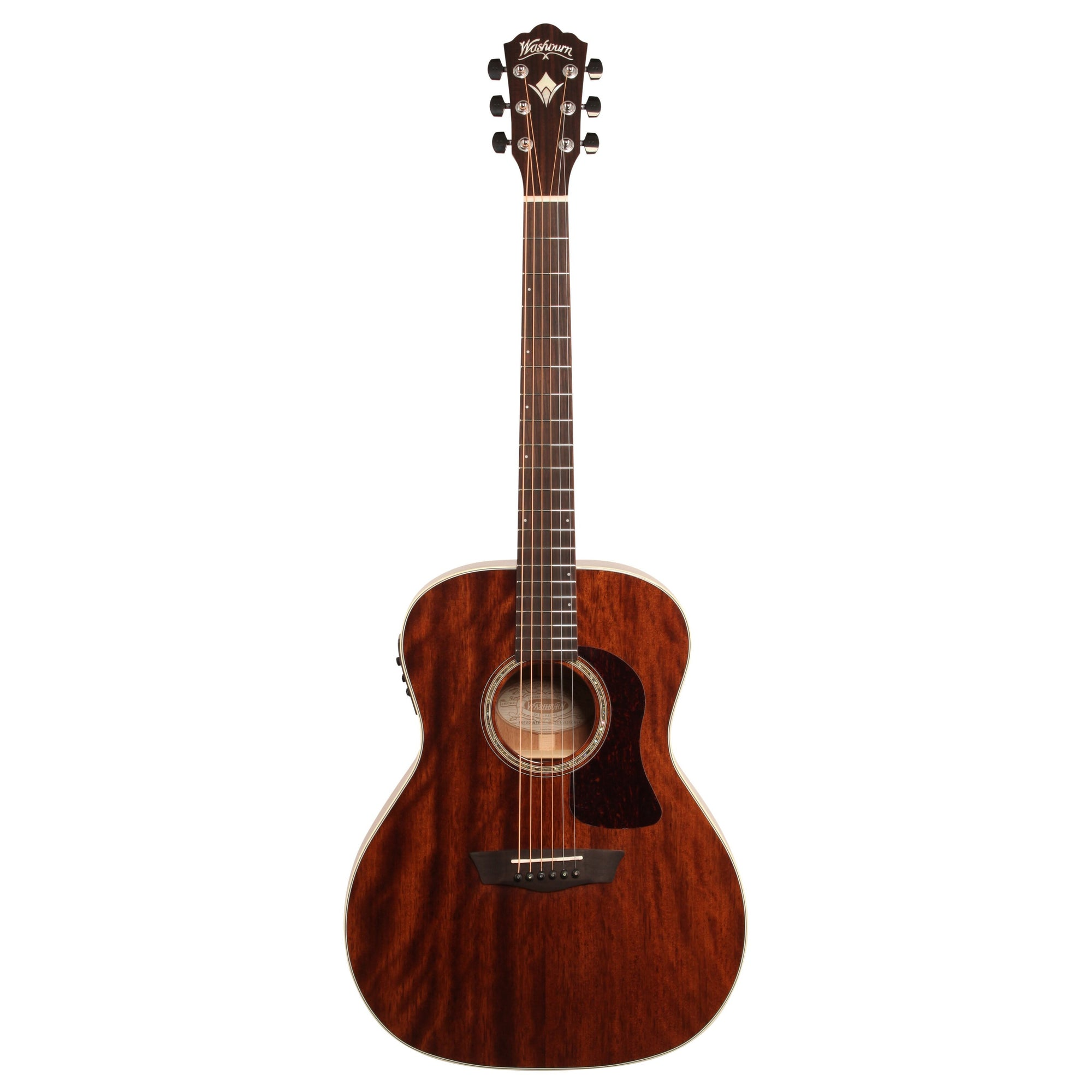 Washburn Heritage 100 Series HG120SWEK Grand Auditorium Acoustic-Electric Guitar (with Case), Natural, HG120SWEK