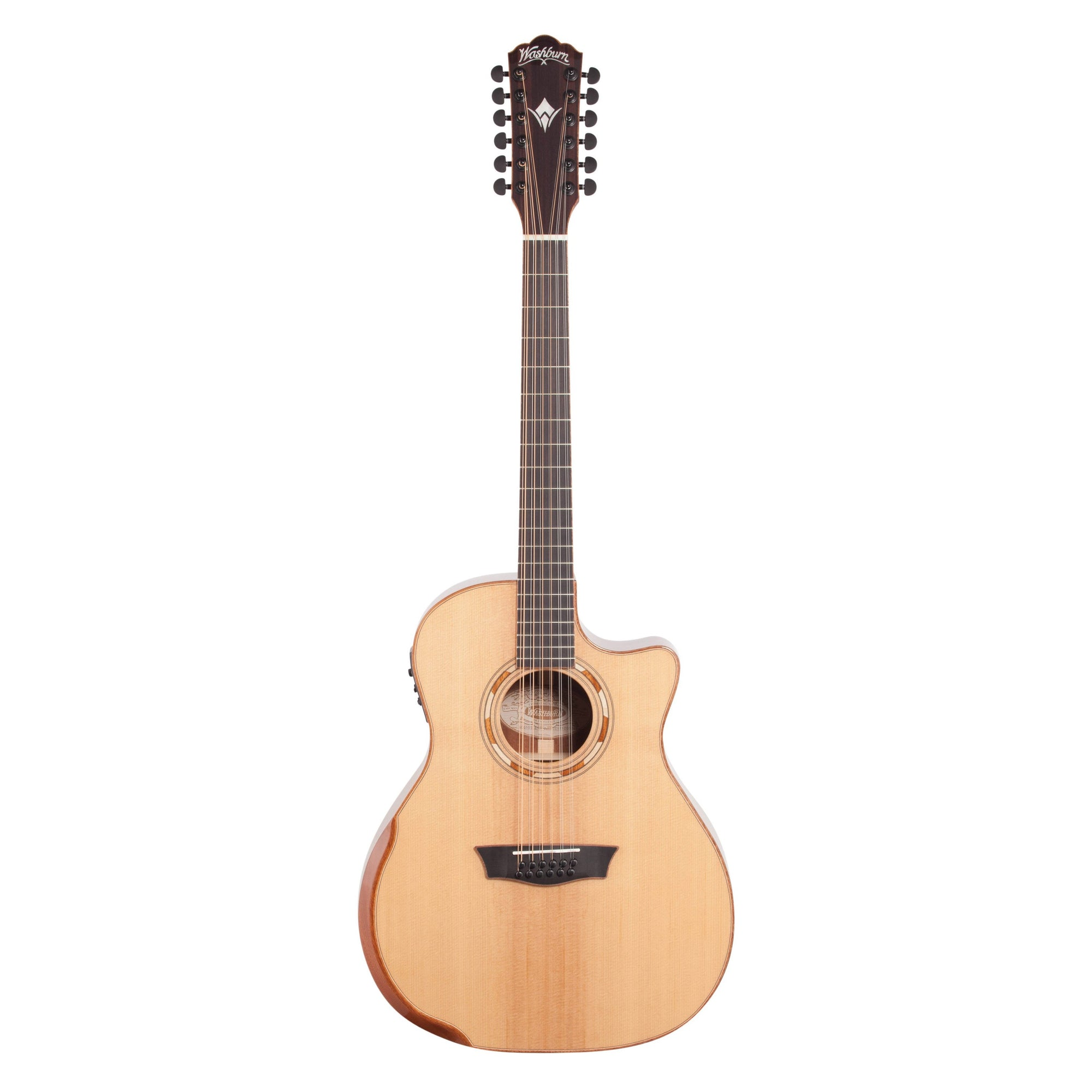 Washburn WCG15SCE12-O Deluxe Grand Auditorium Acoustic-Electric Guitar, 12-String