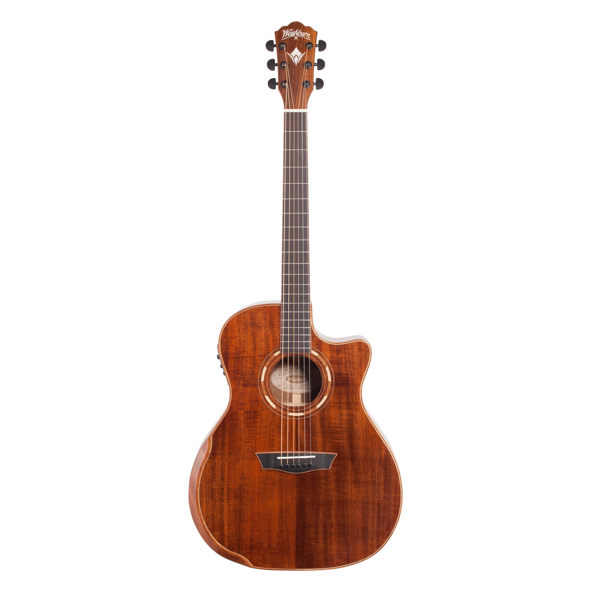 Washburn WCG55CE Koa Grand Auditorium Acoustic-Electric Guitar