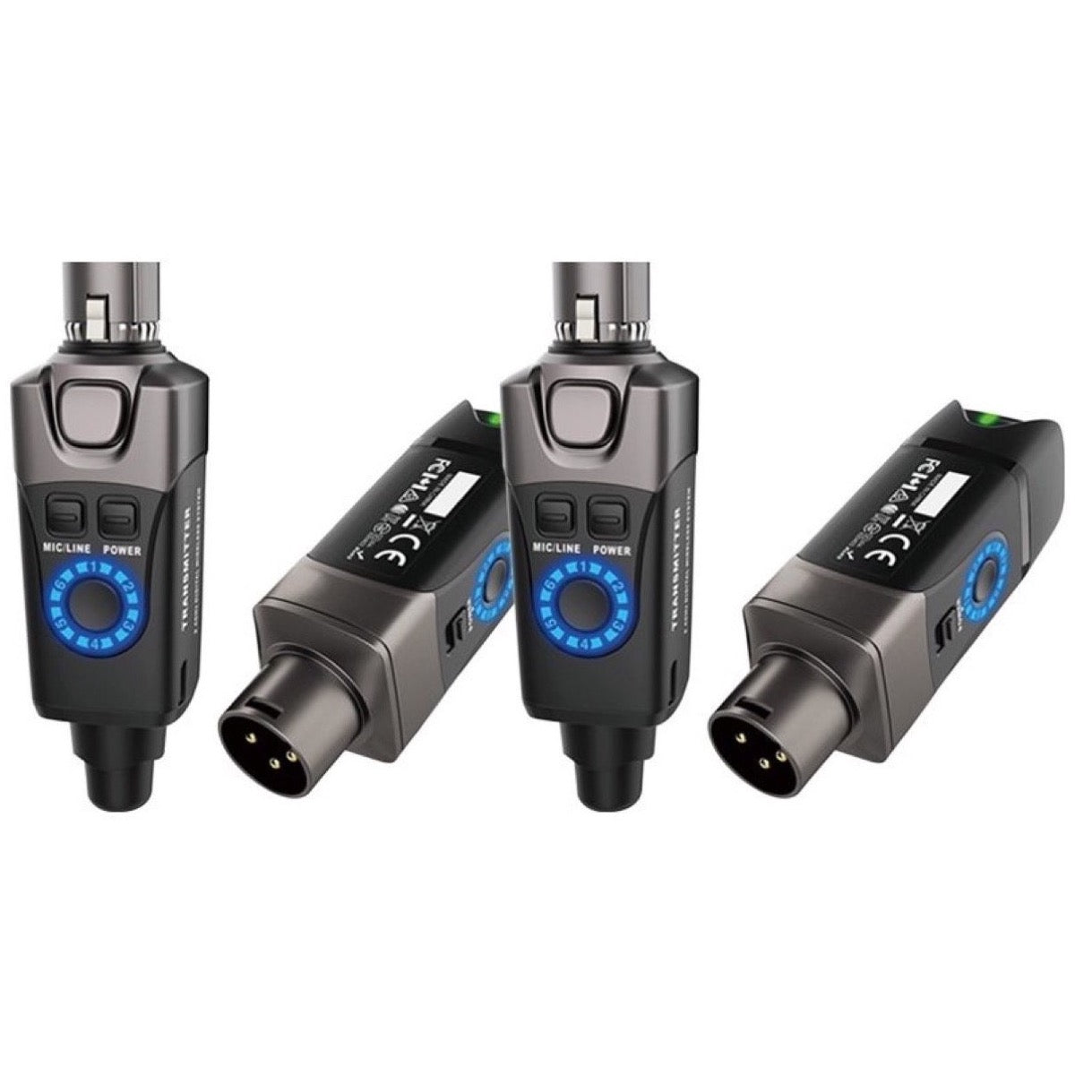 Xvive U3 Digital Plug-On Wireless System for XLR Dynamic Microphones, Black, Pair of Two Systems