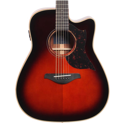 Yamaha A3M Acoustic-Electric Guitar, with Gig Bag, Tobacco Brown Sunburst