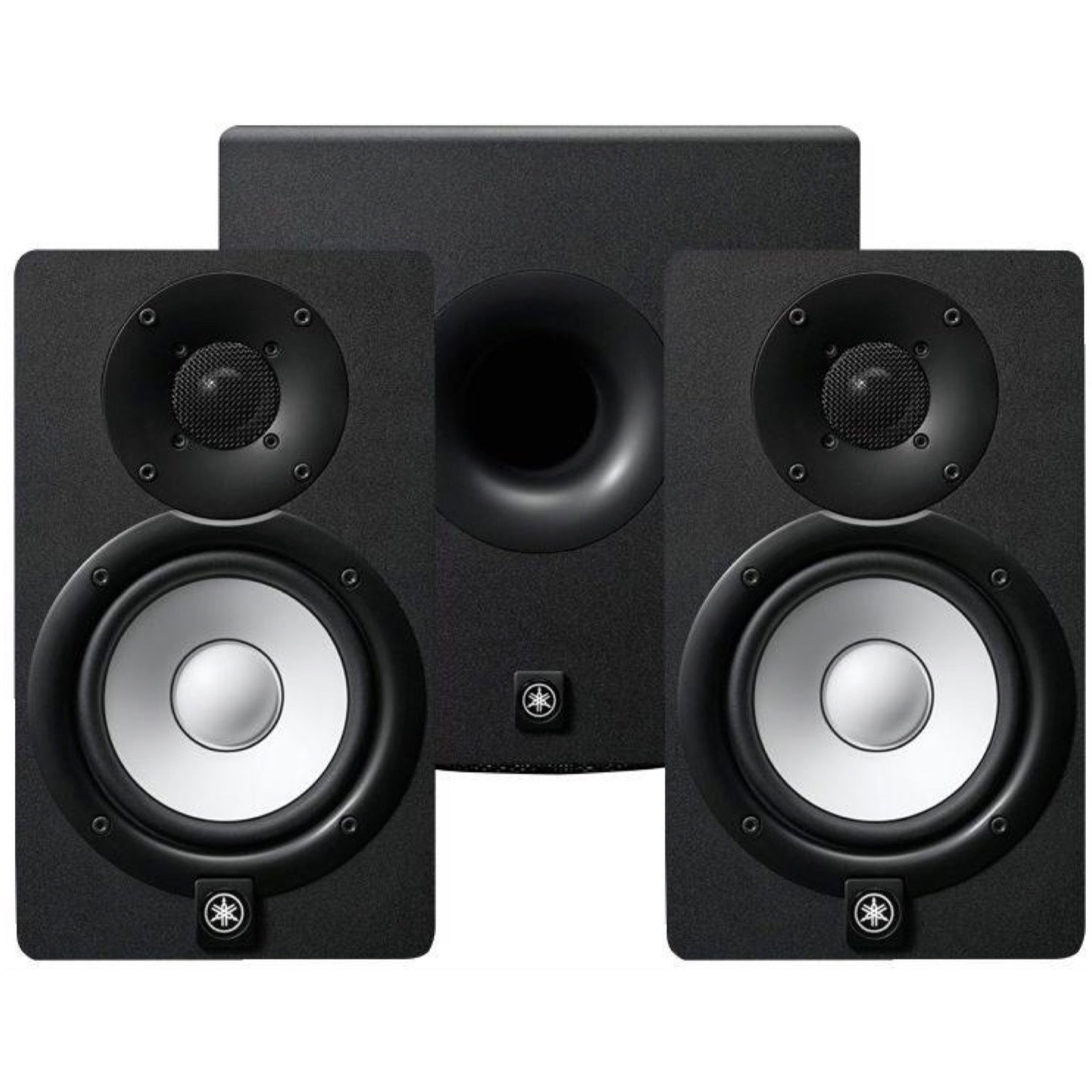 Yamaha HS5 Active Studio Monitor, Pair, with Yamaha HS8S Powered Studio Subwoofer