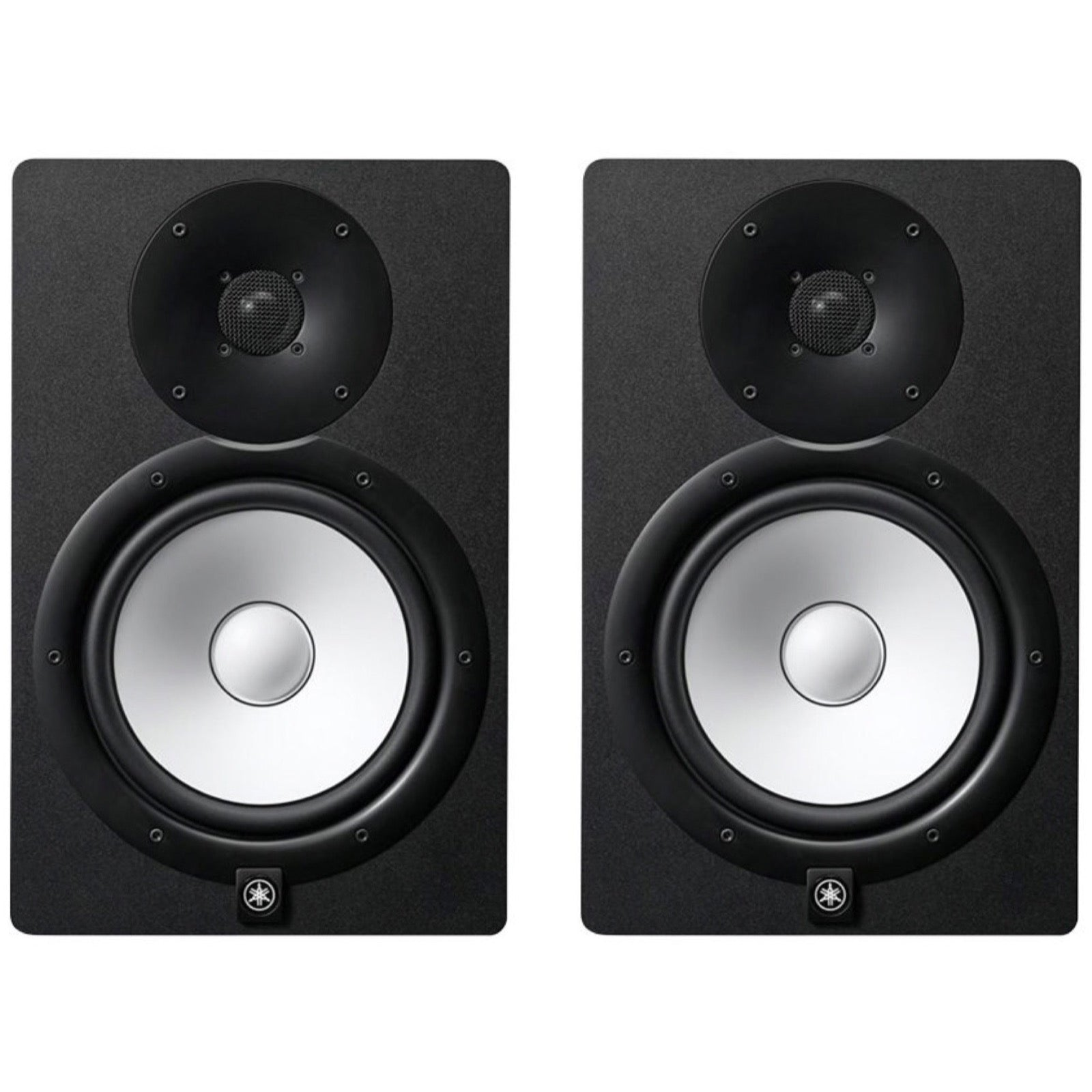 Yamaha HS8 Active Studio Monitor, Black, Pair, with Yamaha HS8S Powered Studio Subwoofer