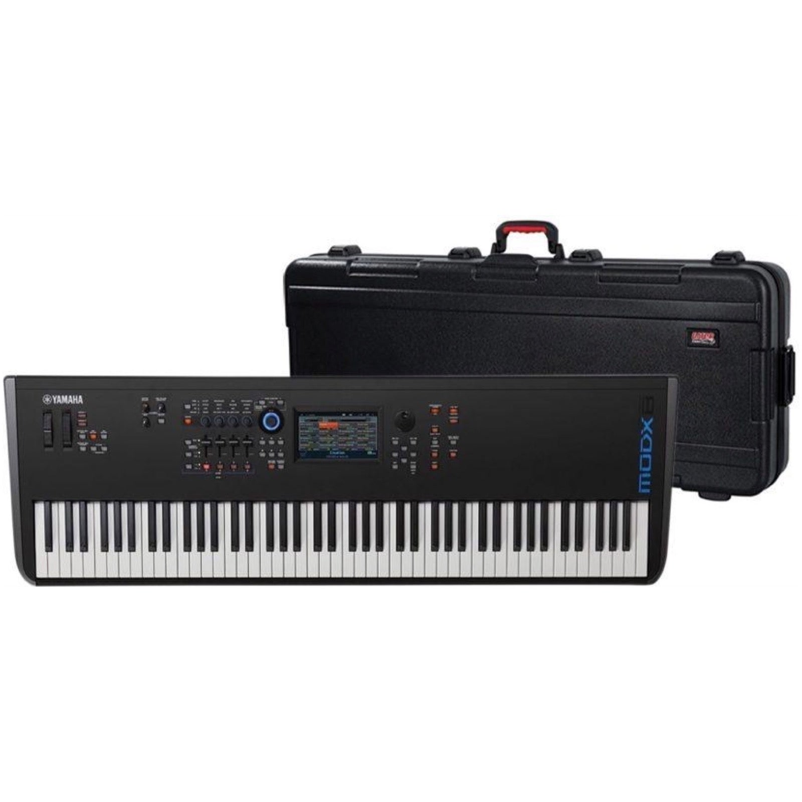 Yamaha MODX8 Keyboard Synthesizer, 88-Key, with Gator Case
