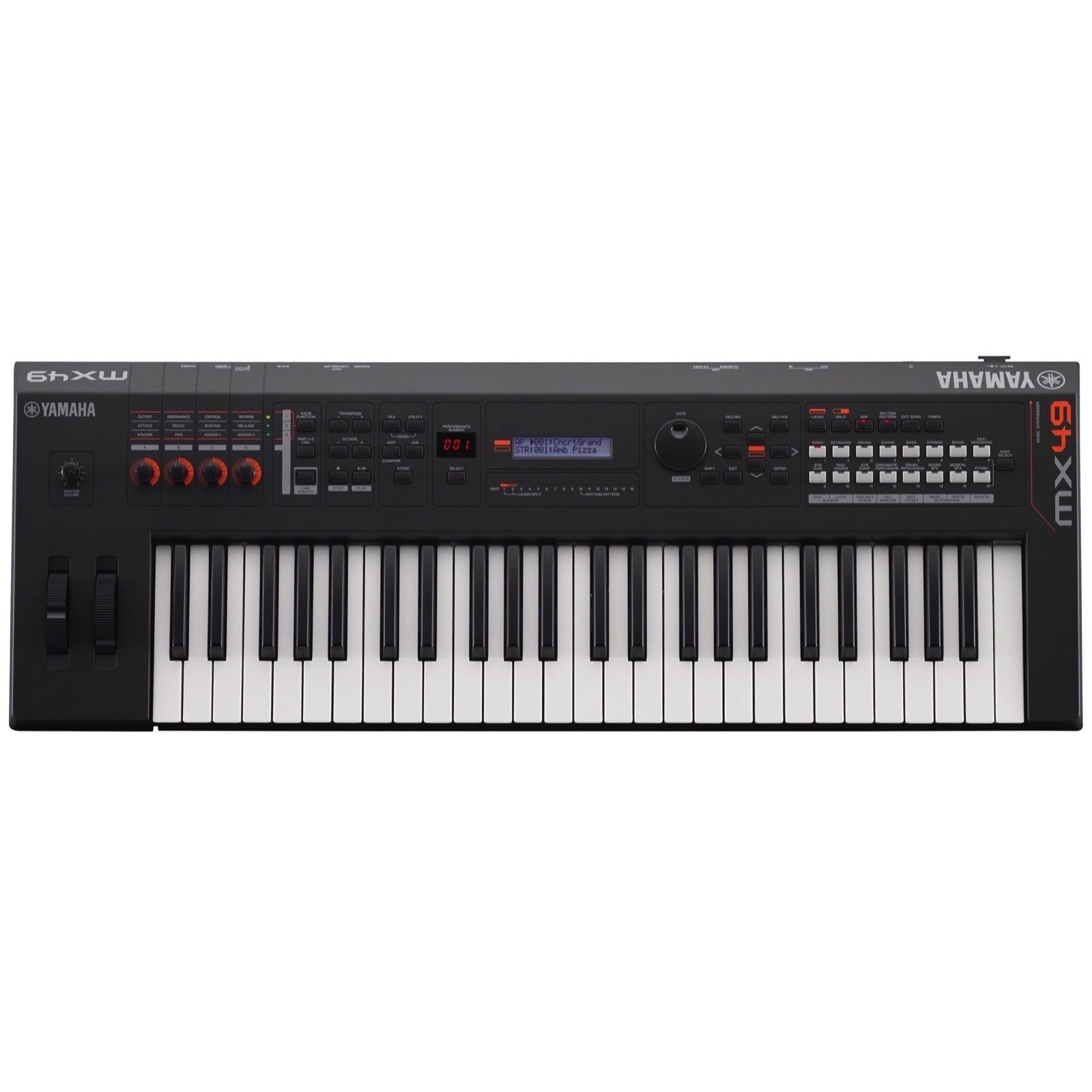 Yamaha MX49 v2 Keyboard Synthesizer, 49-Key, Black