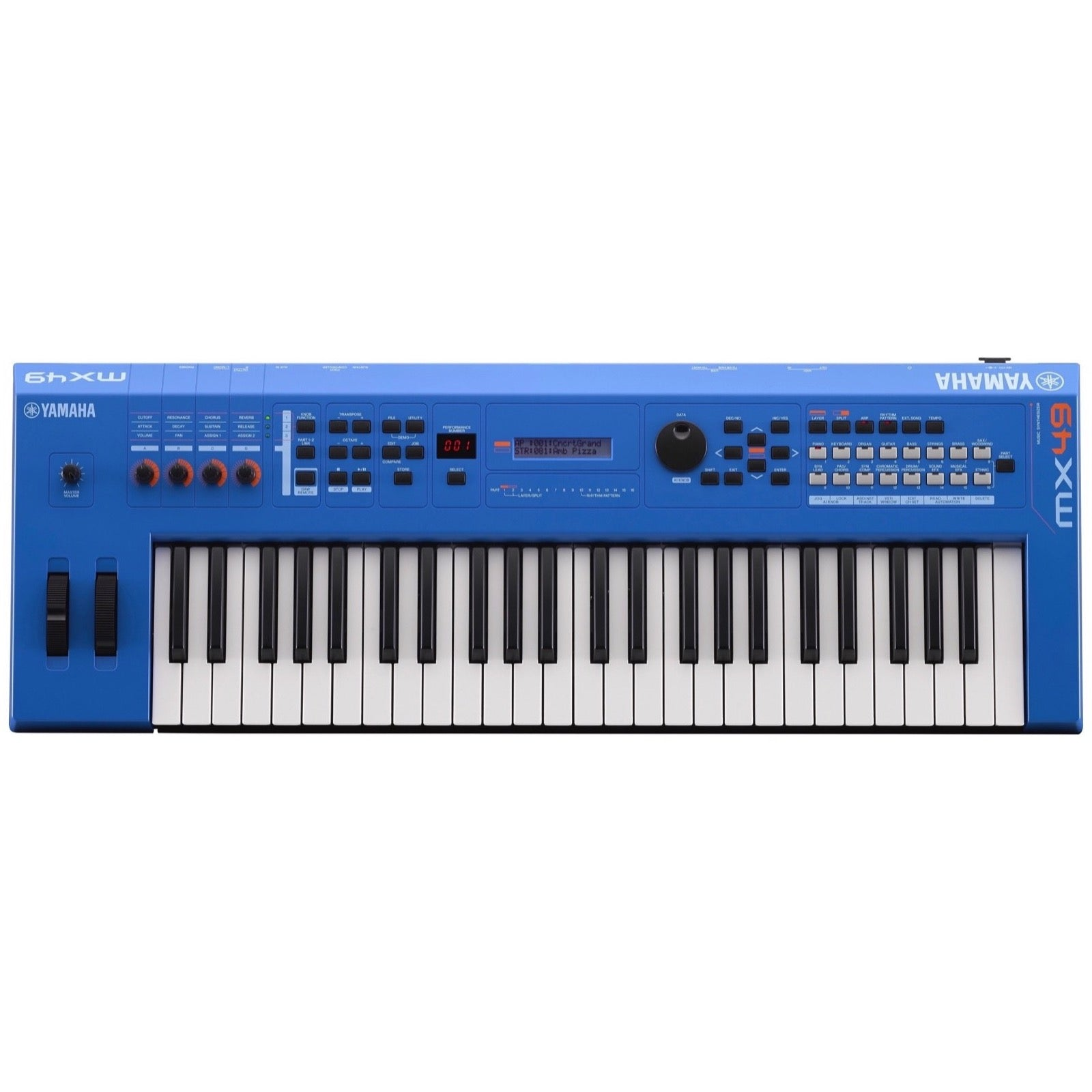 Yamaha MX49 v2 Keyboard Synthesizer, 49-Key, Blue