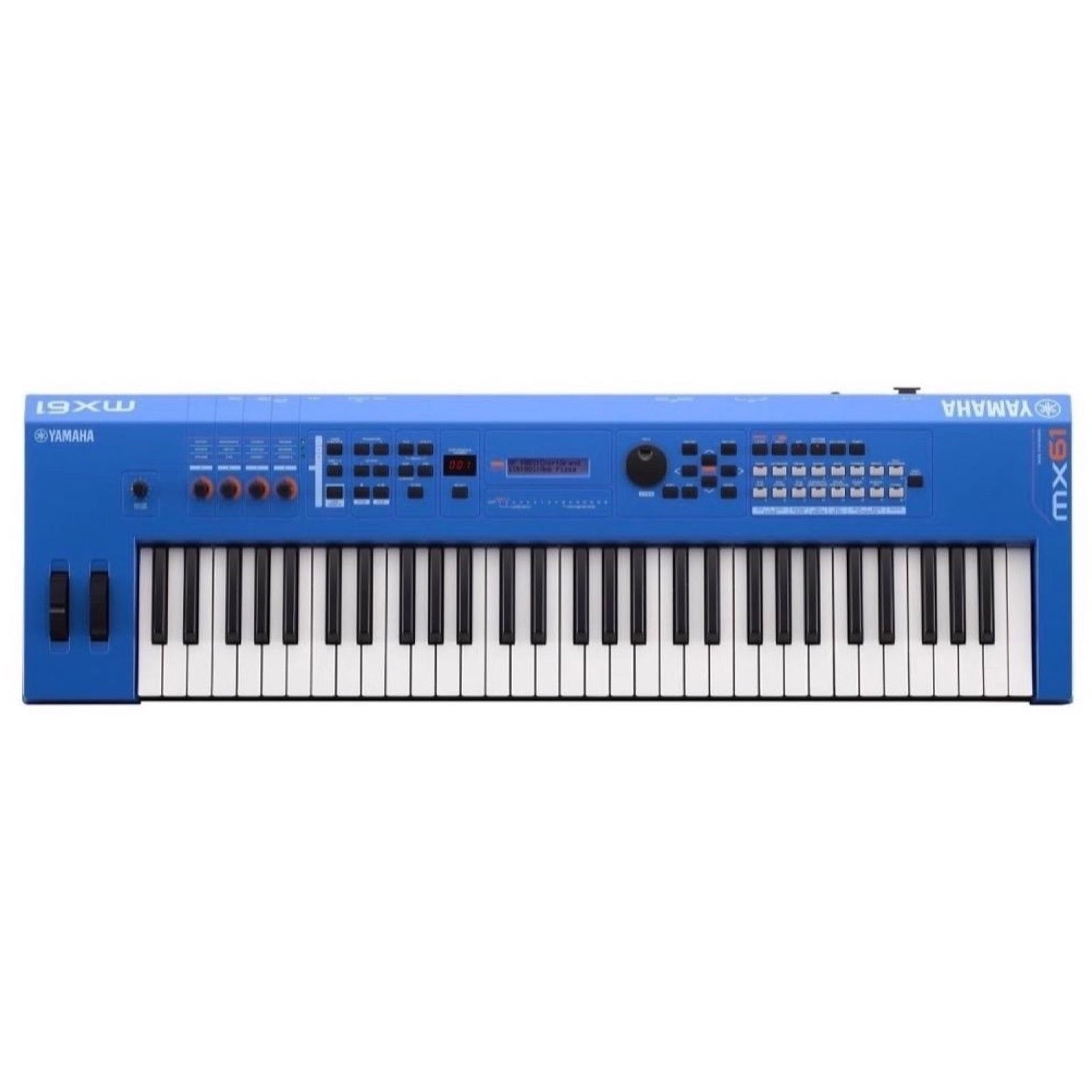 Yamaha MX61 v2 Keyboard Synthesizer, 61-Key, Blue