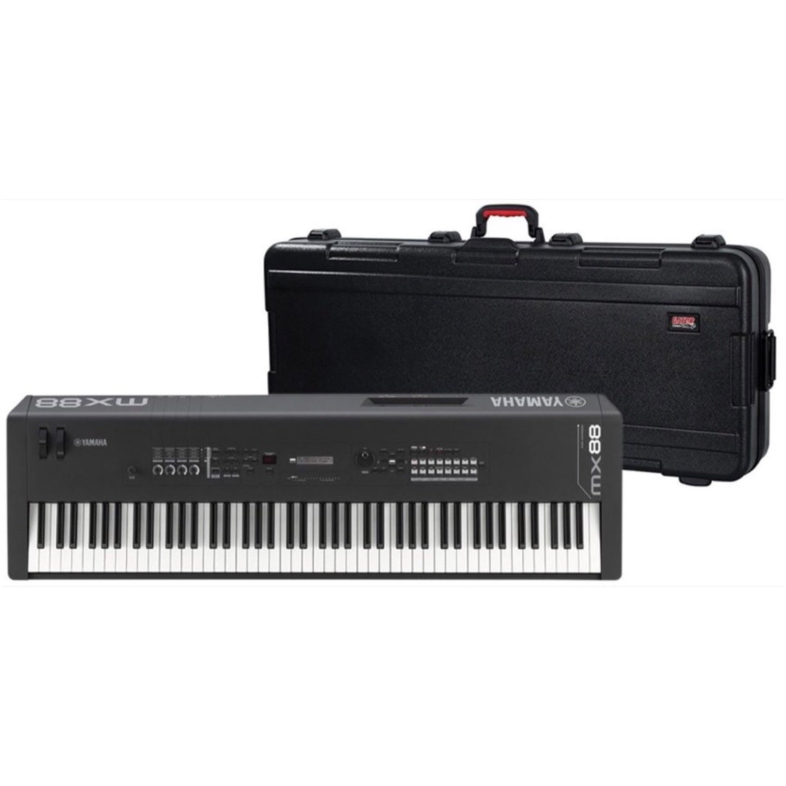 Yamaha MX88 Keyboard Synthesizer, 88-Key, Black, with Case