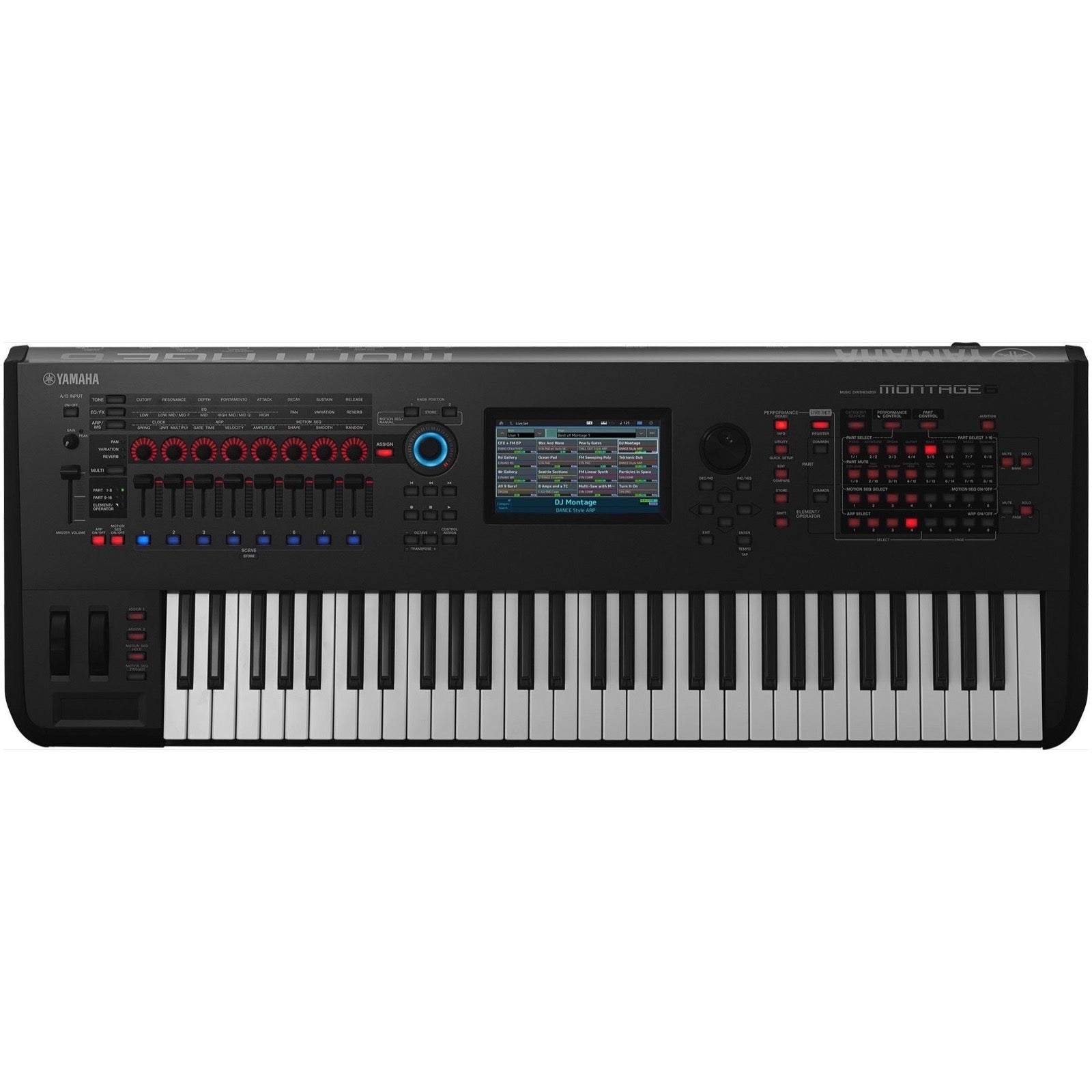 Yamaha Montage 6 Keyboard Synthesizer, 61-Key, Black