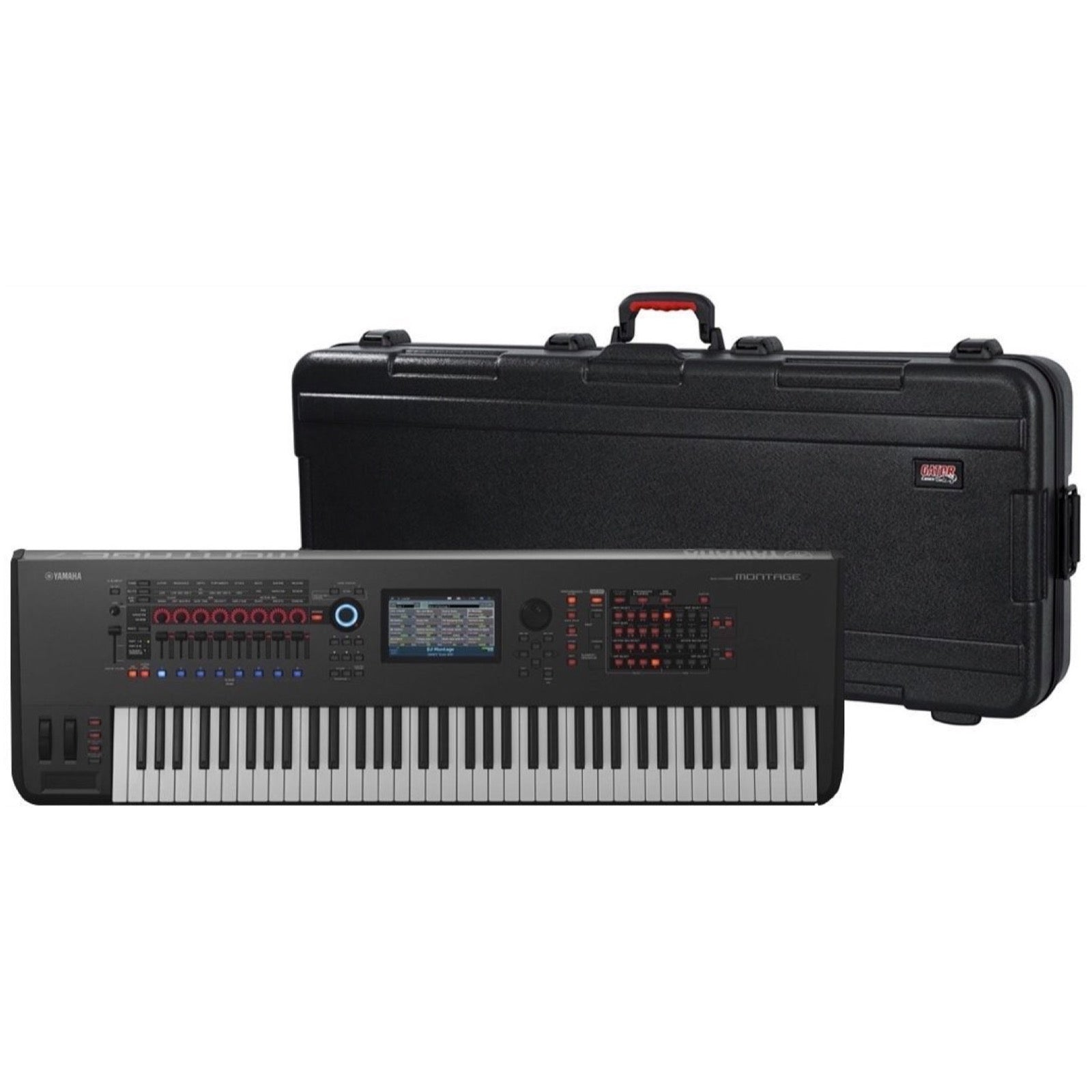 Yamaha Montage 7 Keyboard Synthesizer, 76-Key, Black, with Gator GTSA-KEY76 Keyboard Case