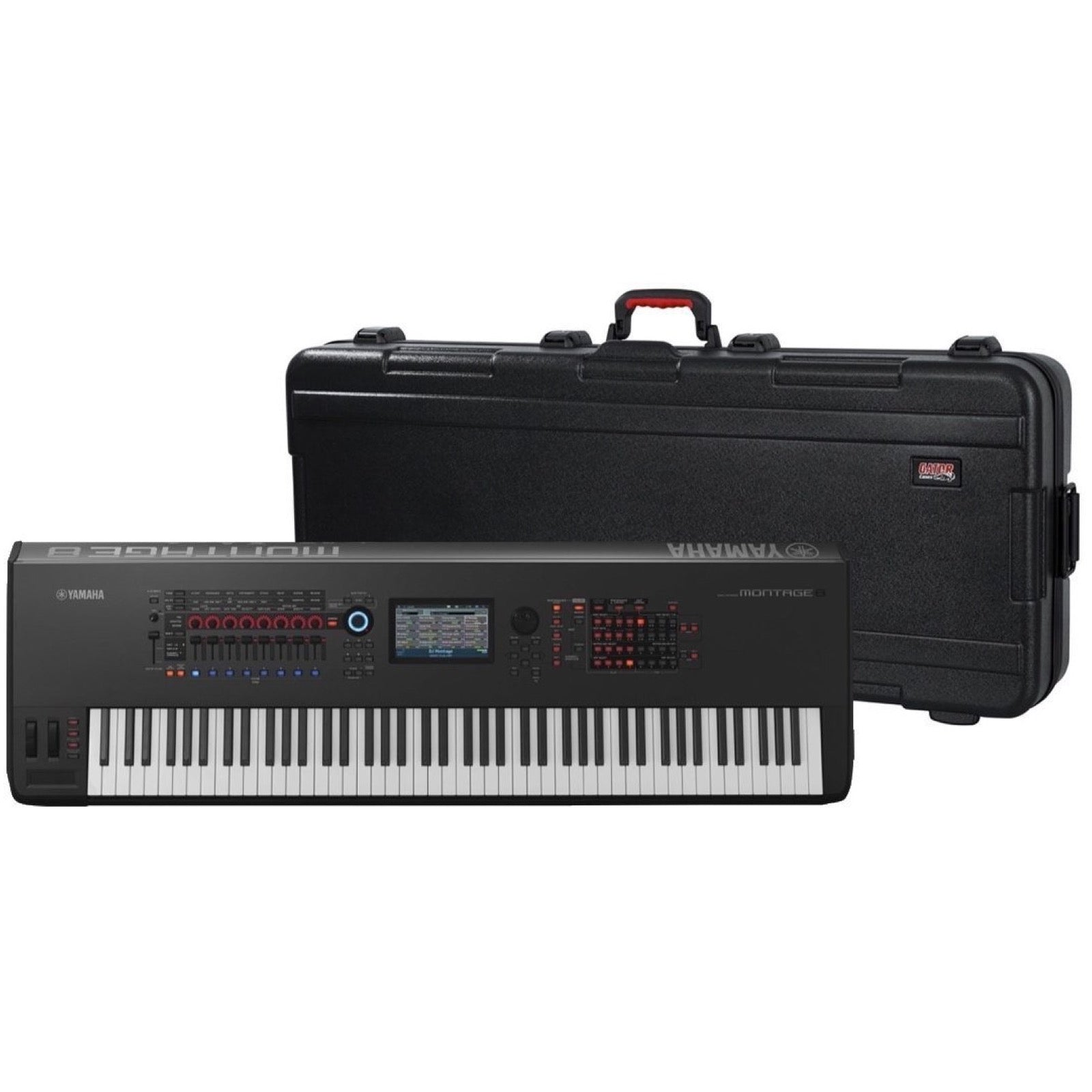 Yamaha Montage 8 Keyboard Synthesizer, 88-Key, Black, with Gator GTSA-KEY88 Keyboard Case