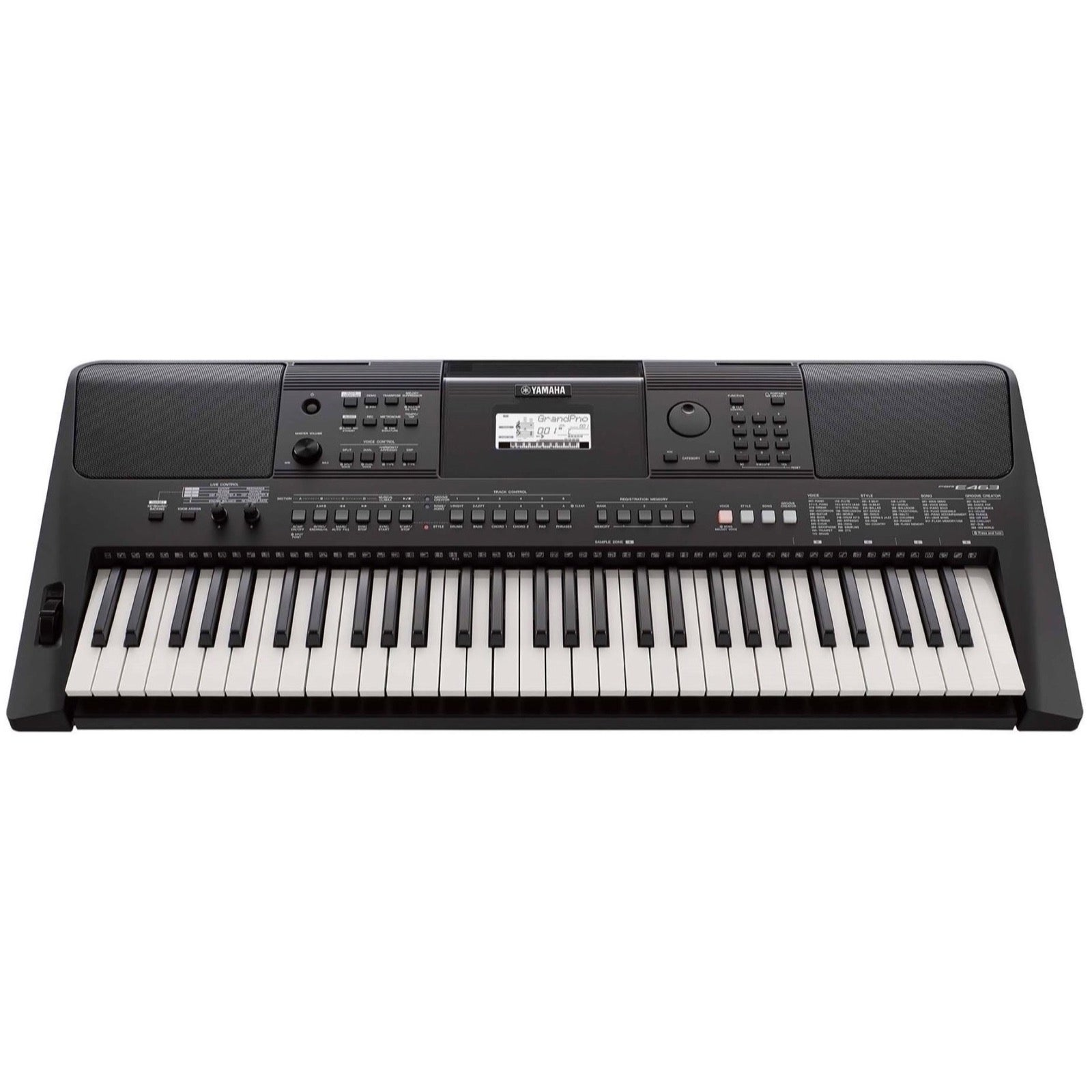 Yamaha PSR-E463 Portable Keyboard, 61-Key, Education Pack, with Stand, AC Adapter, Headphones, and Software
